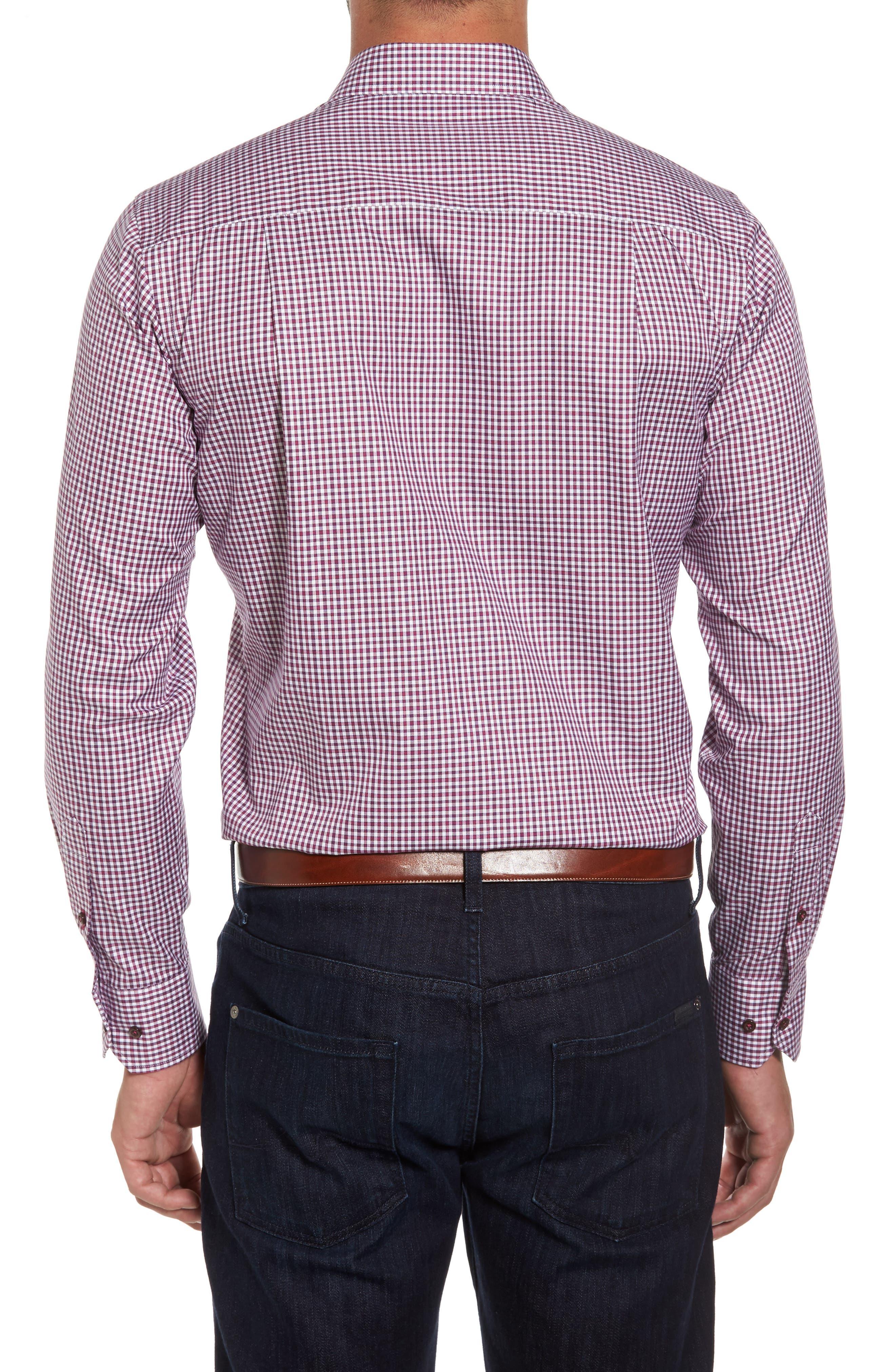 Plaid Regular Fit Sport Shirt,                             Alternate thumbnail 4, color,