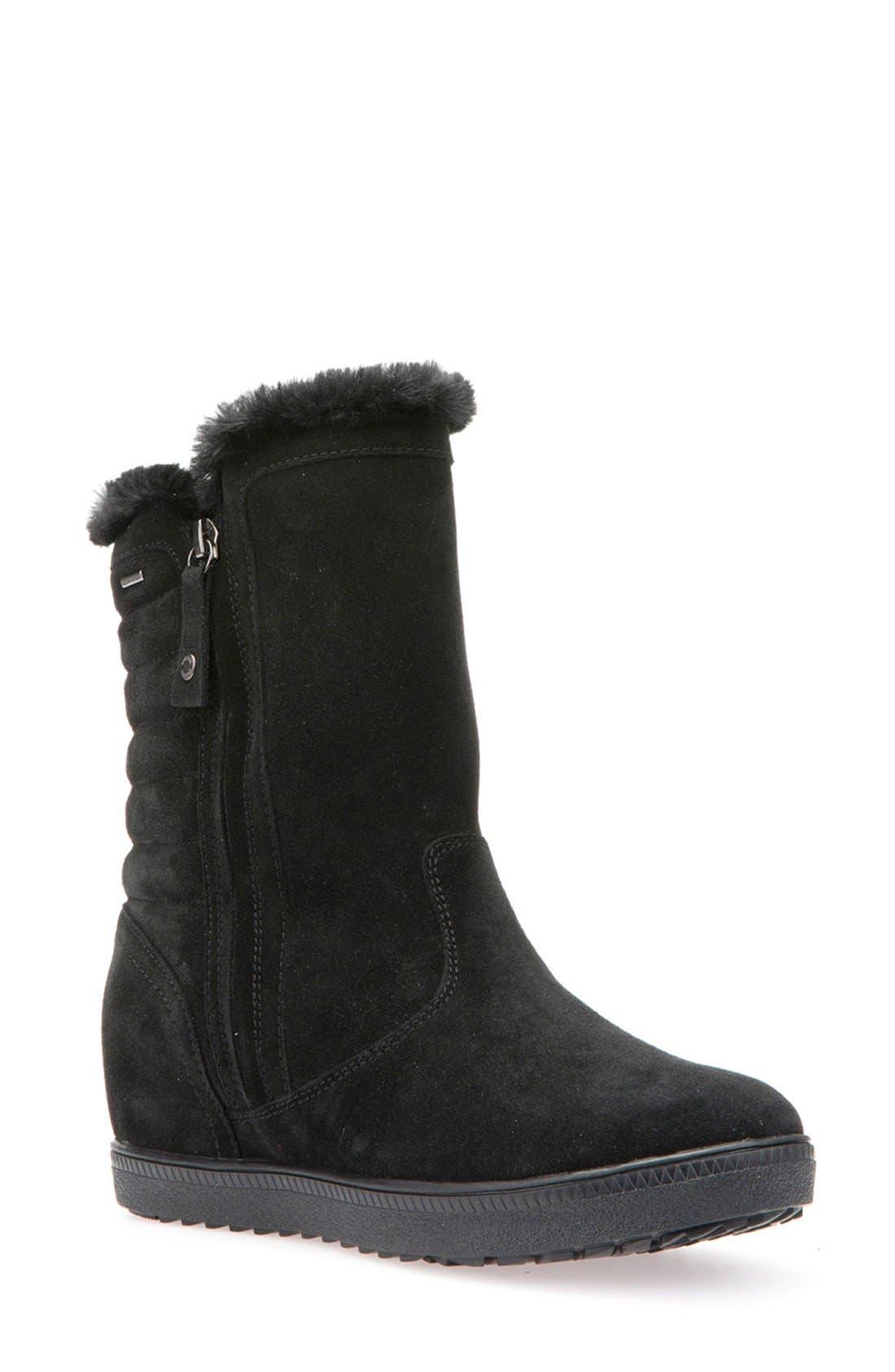 GEOX 'Amaranth' Waterproof Boot, Main, color, 001