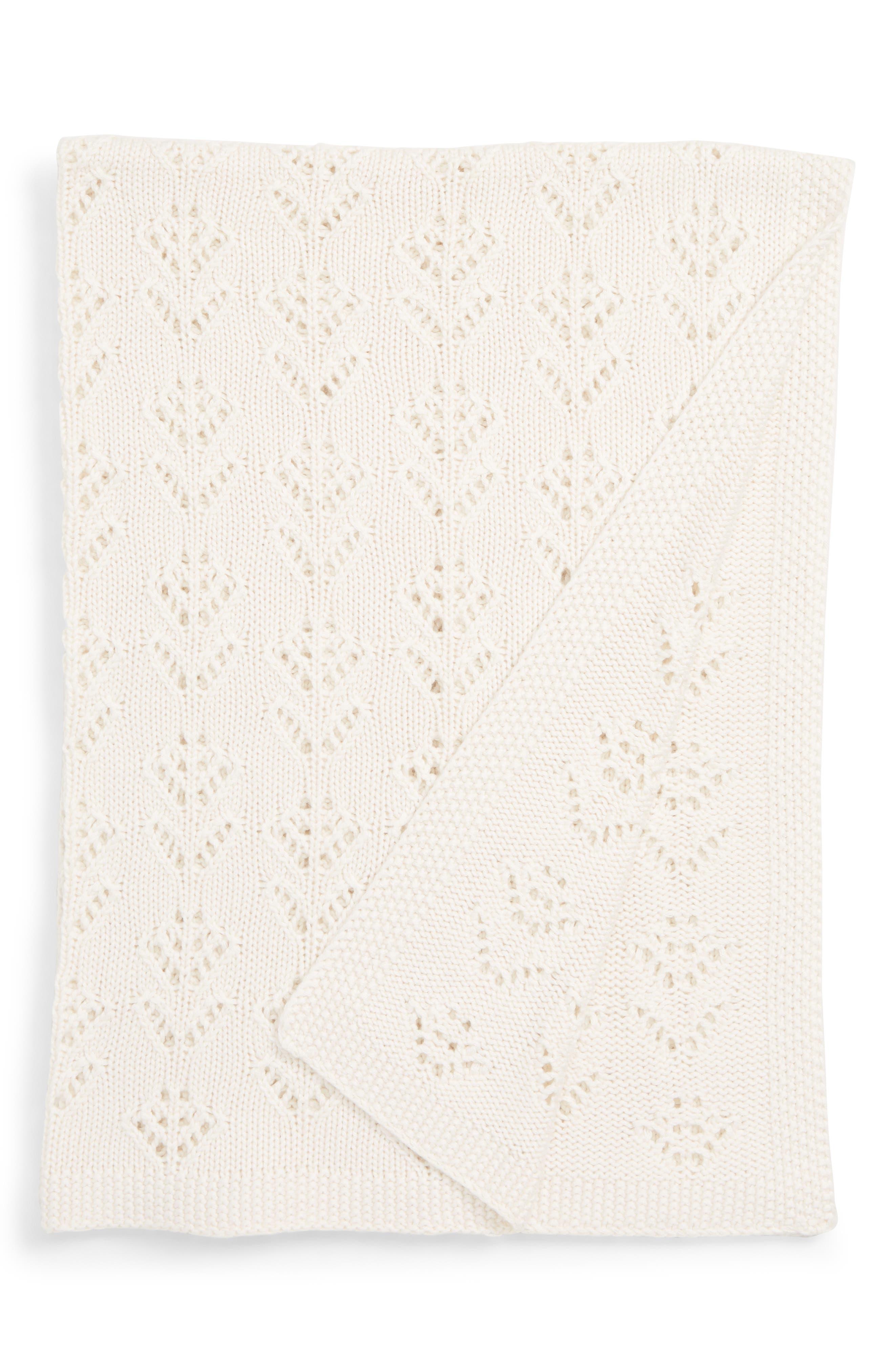 New Baby Knit Blanket,                             Main thumbnail 1, color,                             ECRU