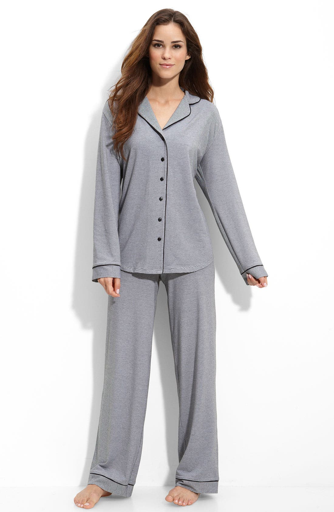 Knit Pajamas,                             Main thumbnail 1, color,                             001
