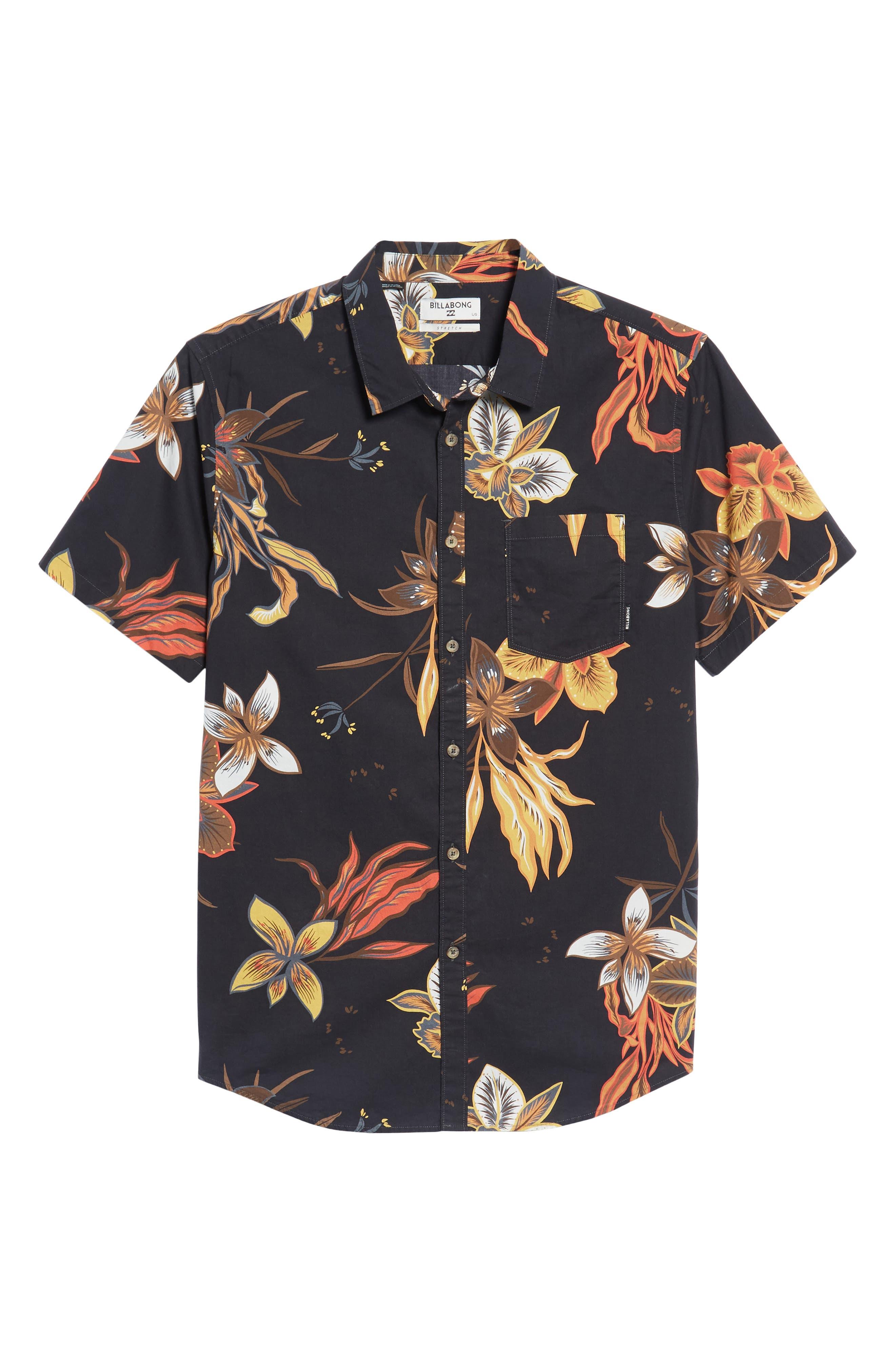 Sunday Floral Woven Shirt,                             Alternate thumbnail 6, color,                             001