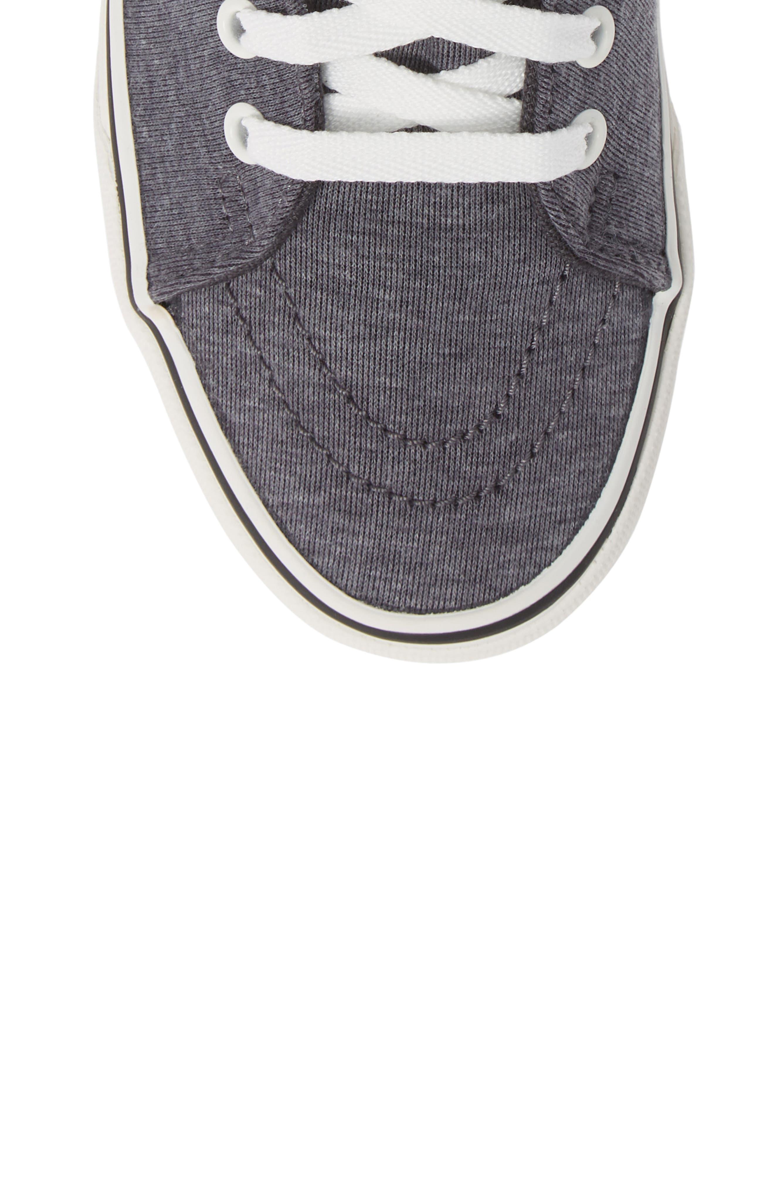 'Sk8-Hi' Sneaker,                             Alternate thumbnail 5, color,                             GREY/ SNOW WHITE