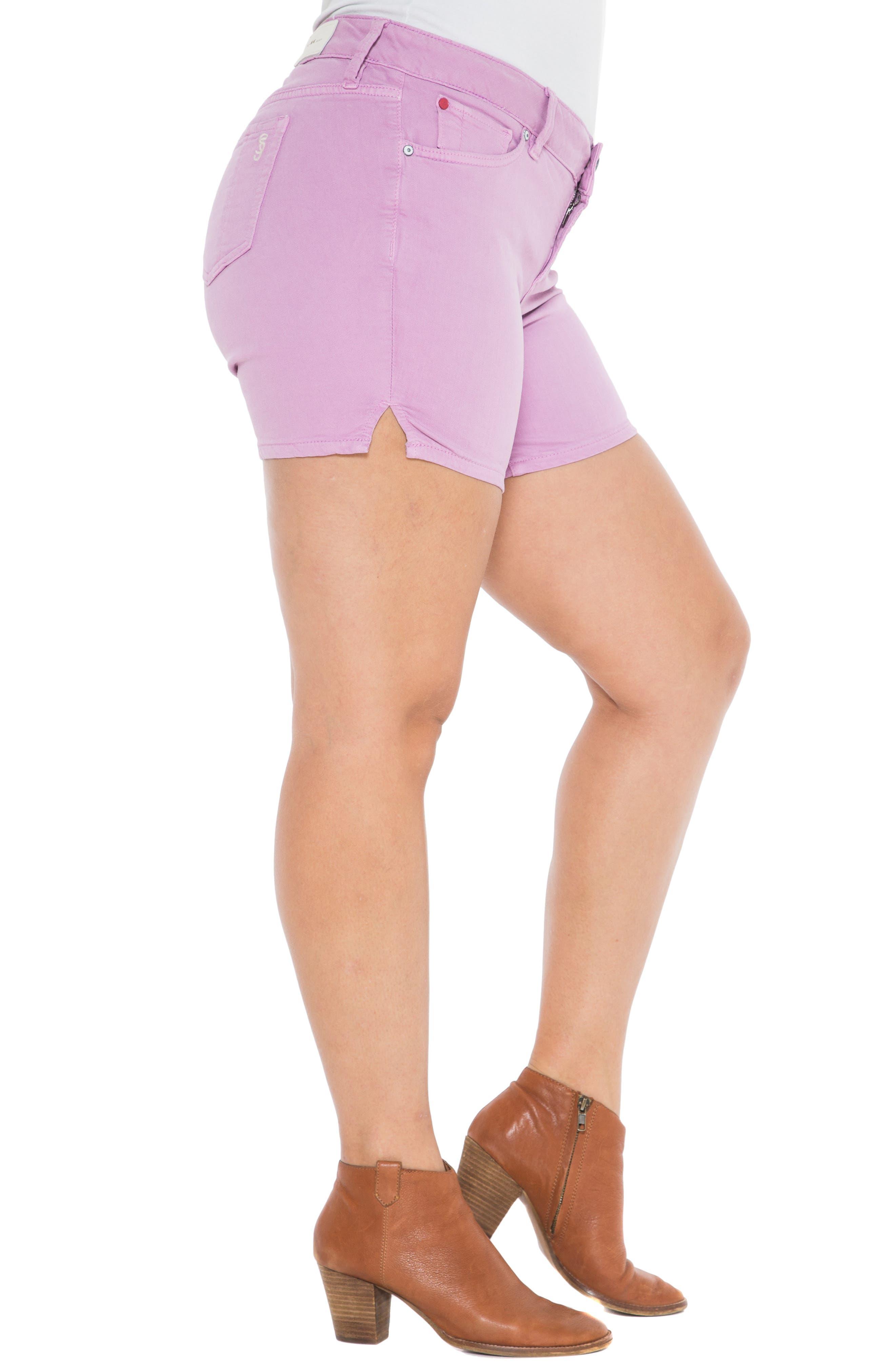 Camo Side Slit Shorts,                             Alternate thumbnail 3, color,                             MAUVE MIST