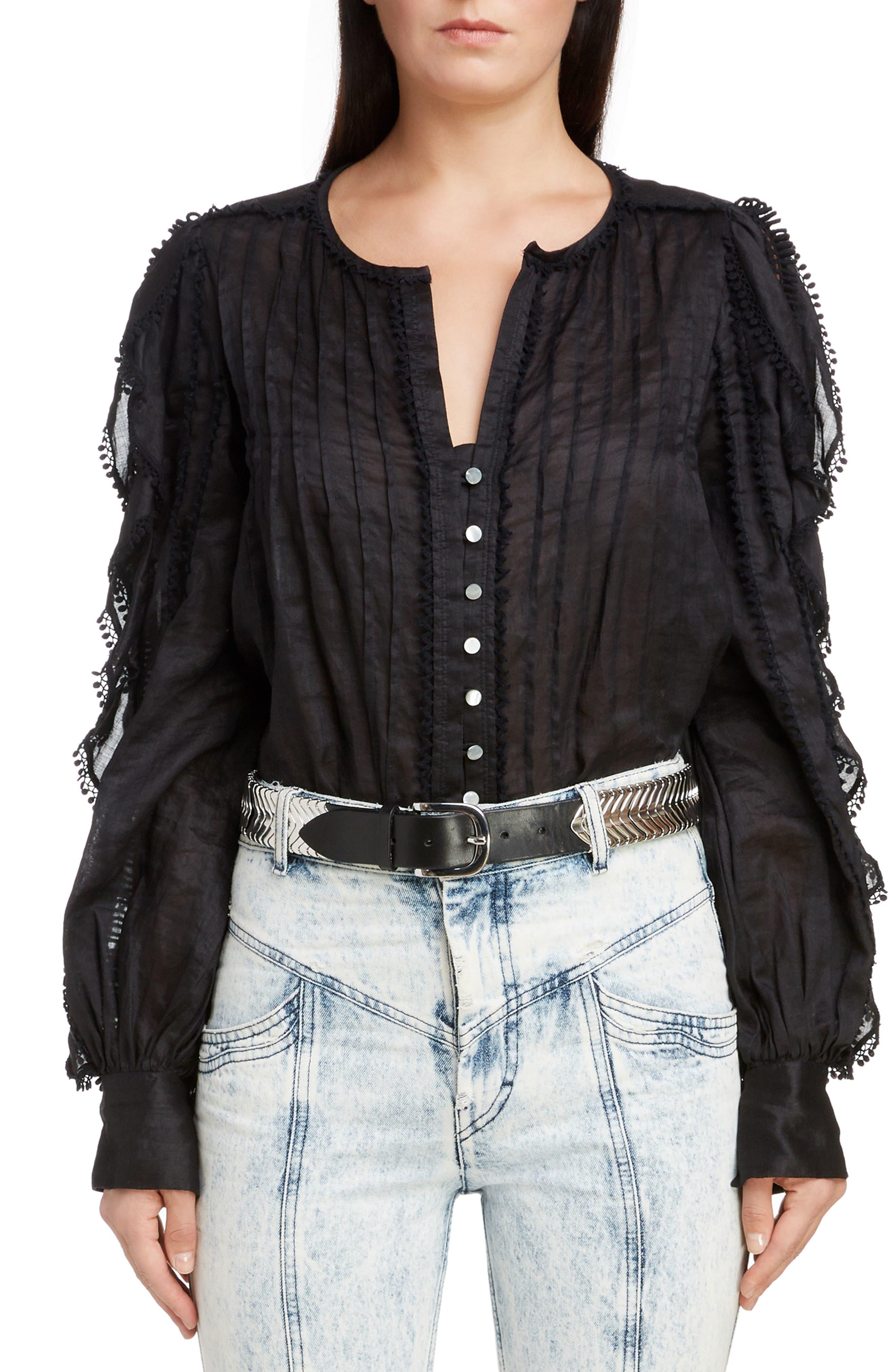 Romney Lace Trim Top, Main, color, 001