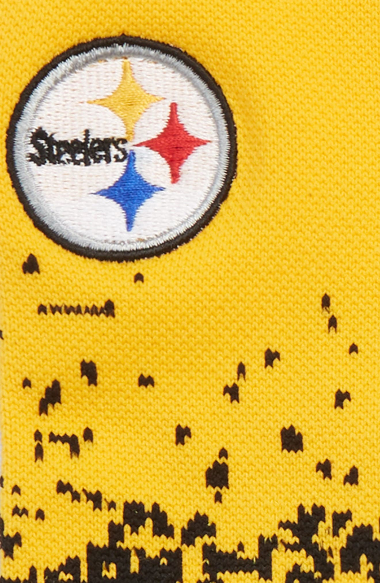 Steelers Fade 2 Socks,                             Alternate thumbnail 2, color,                             YELLOW