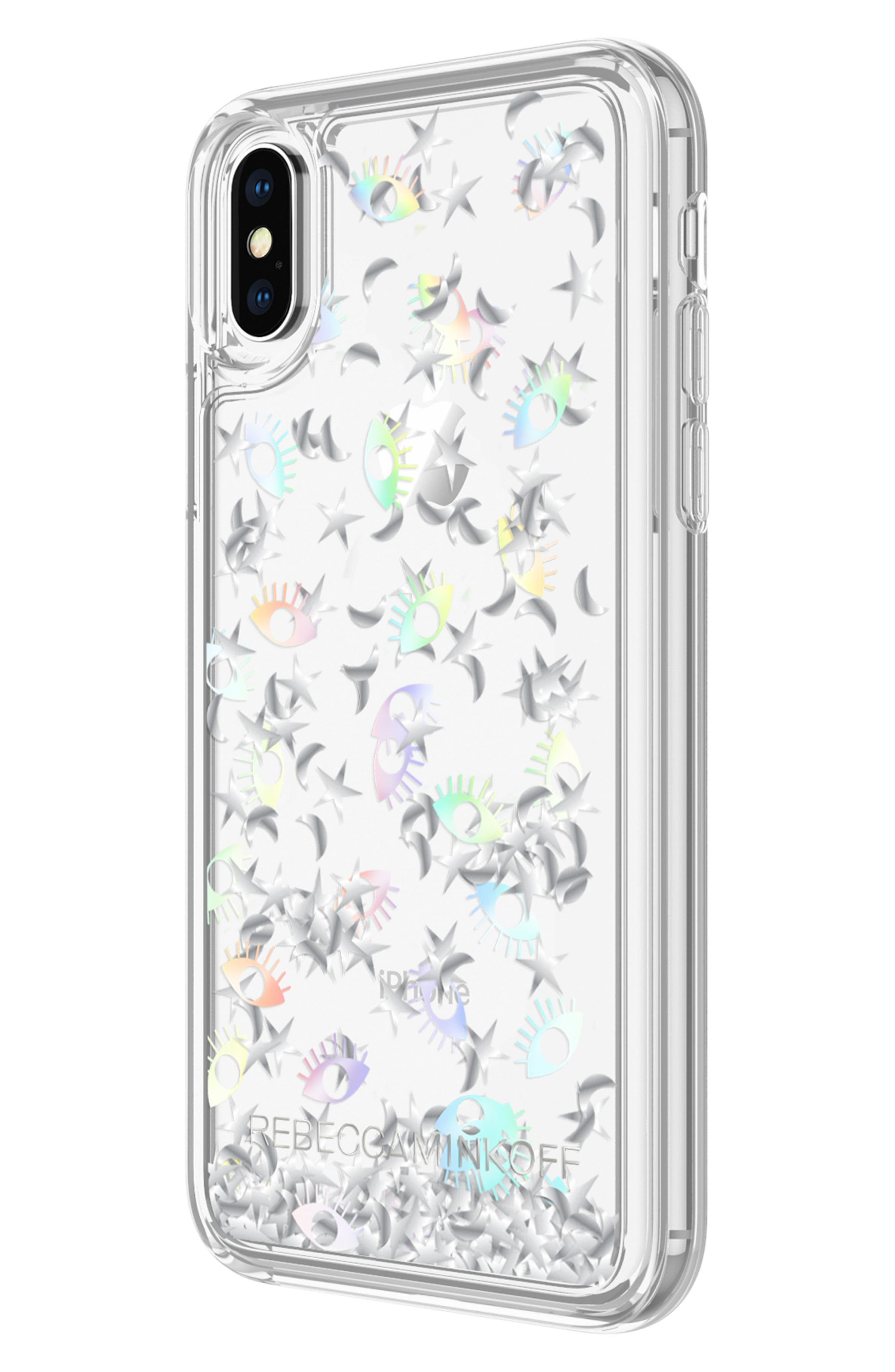 Galaxy Icon Glitterfall iPhone X/Xs Case,                             Alternate thumbnail 6, color,                             HOLOGRAPHIC/ CLEAR
