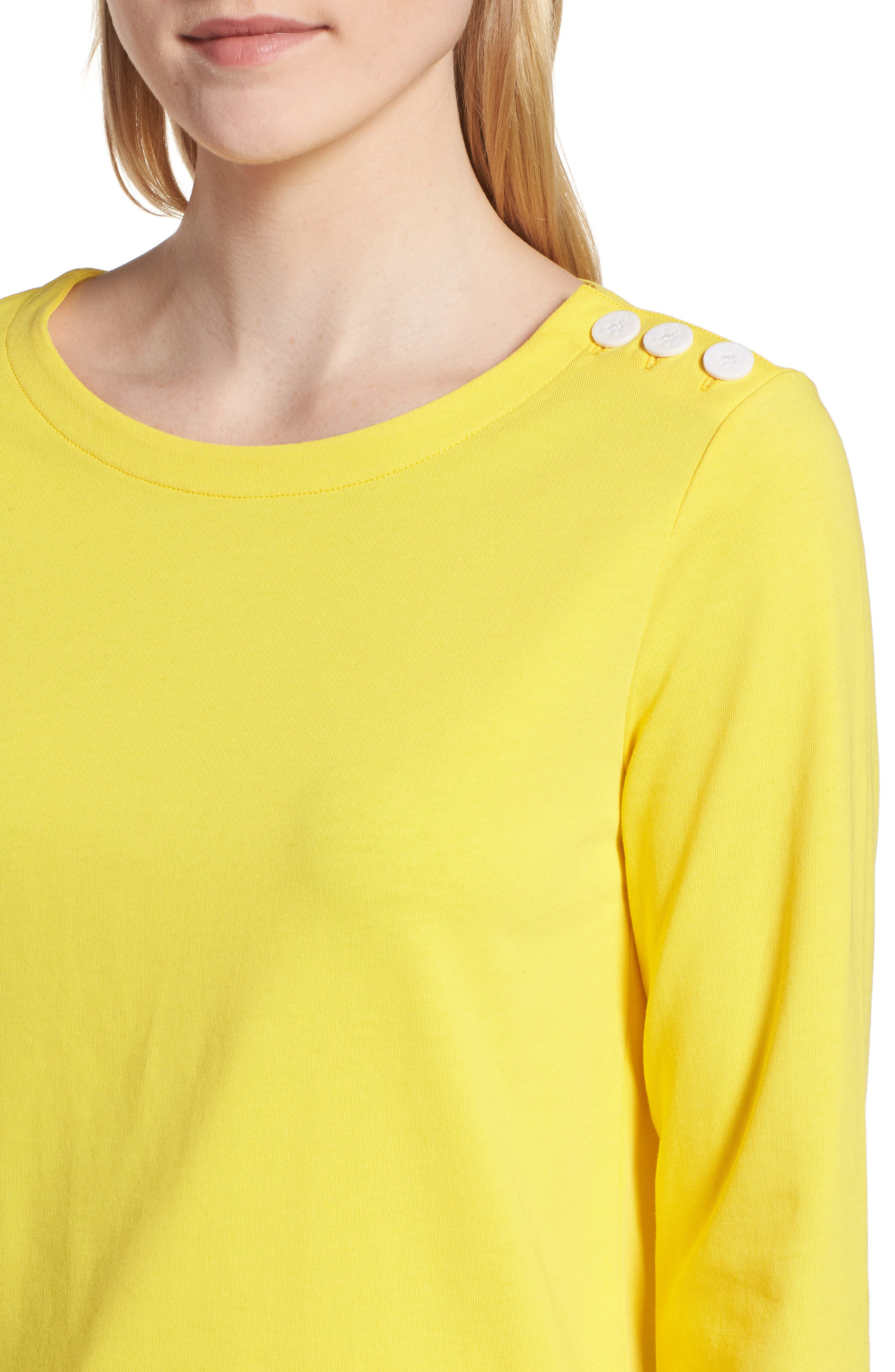 Shoulder Button Cotton Top,                             Alternate thumbnail 16, color,