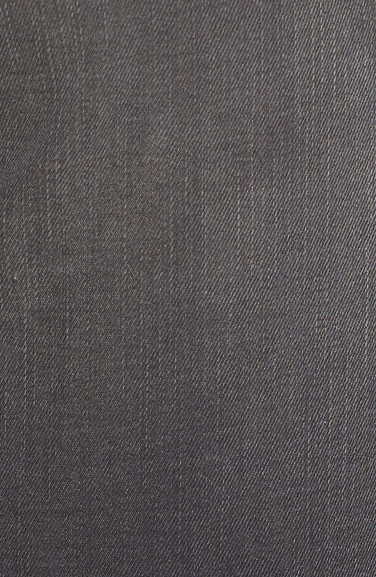 Frayed Hem Skinny Jeans,                             Alternate thumbnail 5, color,