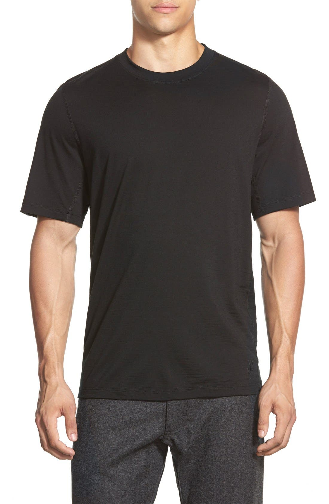 'All Day Weightless Wool Blend' T-Shirt,                             Main thumbnail 1, color,                             001