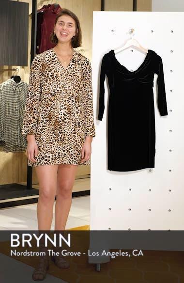 Twist Front Stretch Velvet Dress, sales video thumbnail