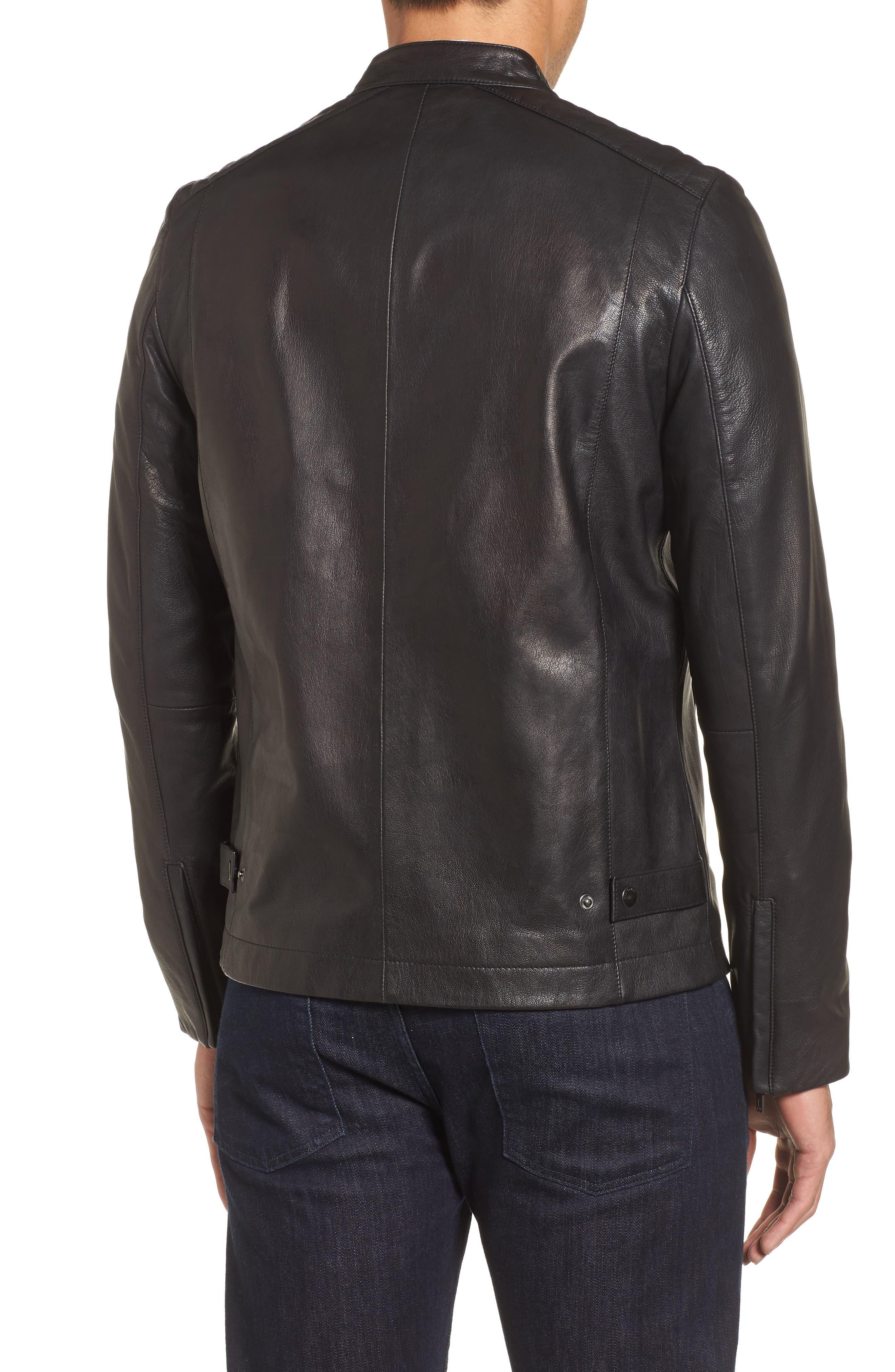 Mate Leather Biker Jacket,                             Alternate thumbnail 2, color,                             001