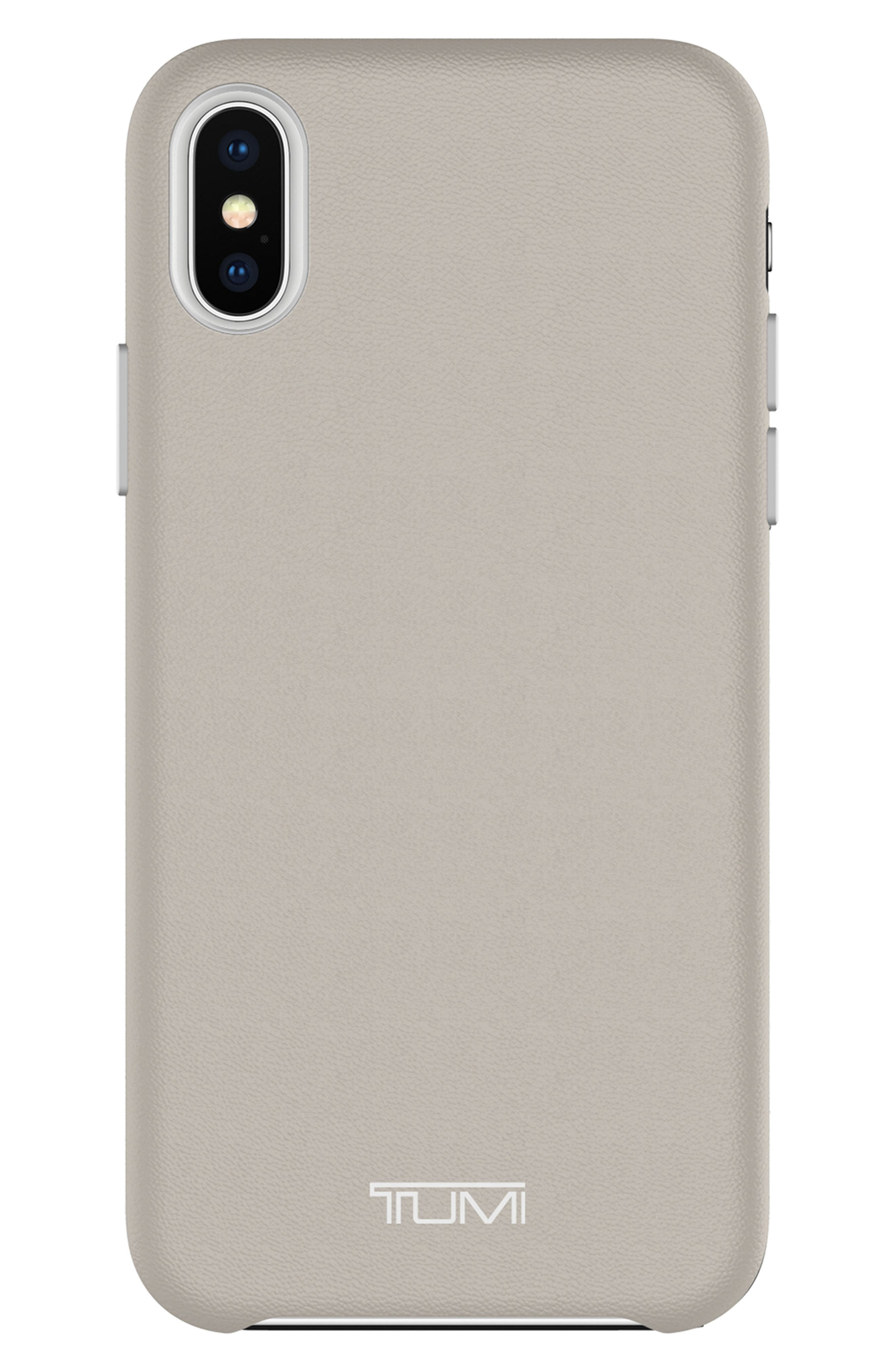 Leather iPhone X Case,                             Main thumbnail 2, color,