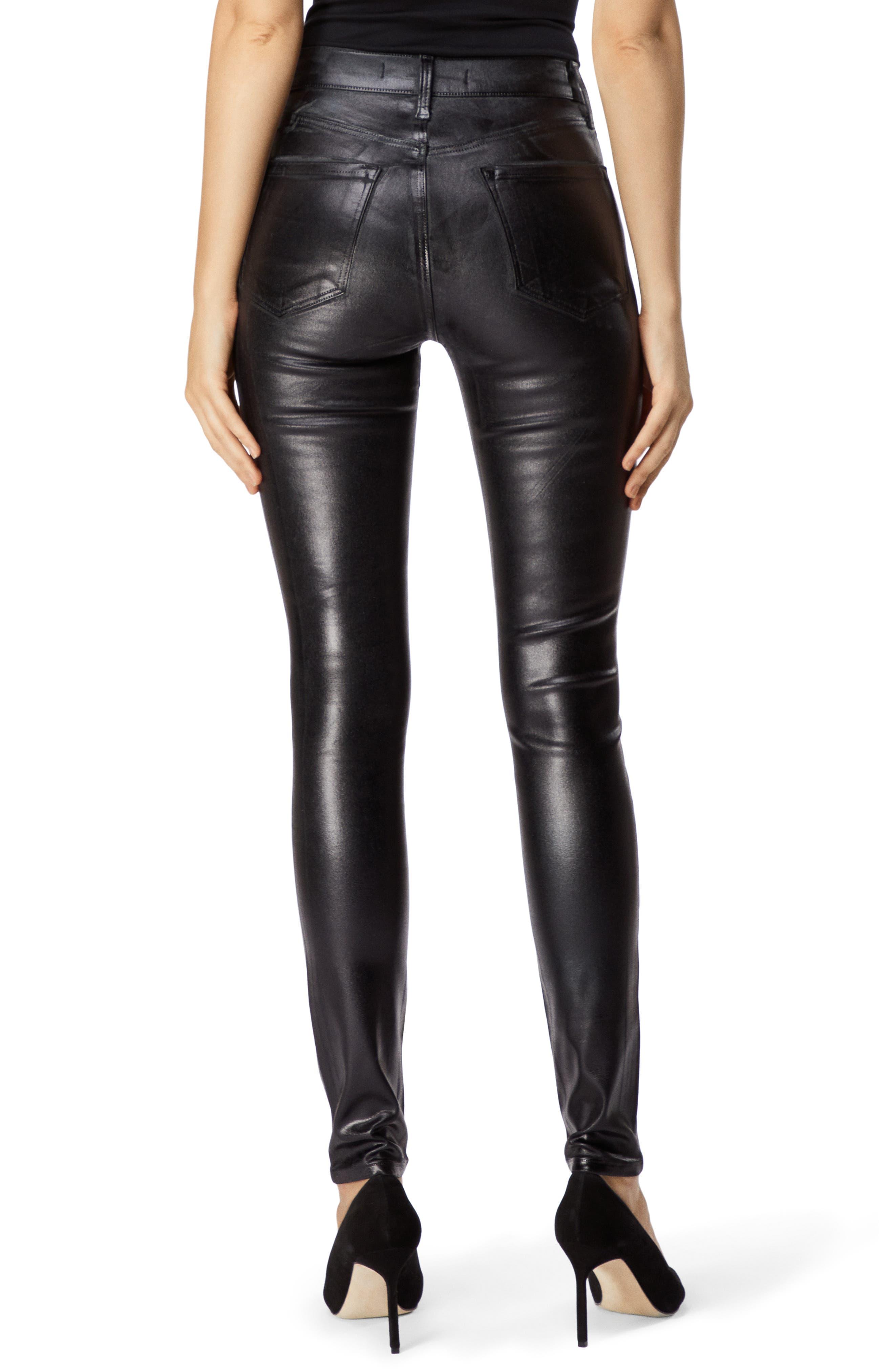 Maria Coated High Waist Skinny Jeans,                             Alternate thumbnail 2, color,                             009