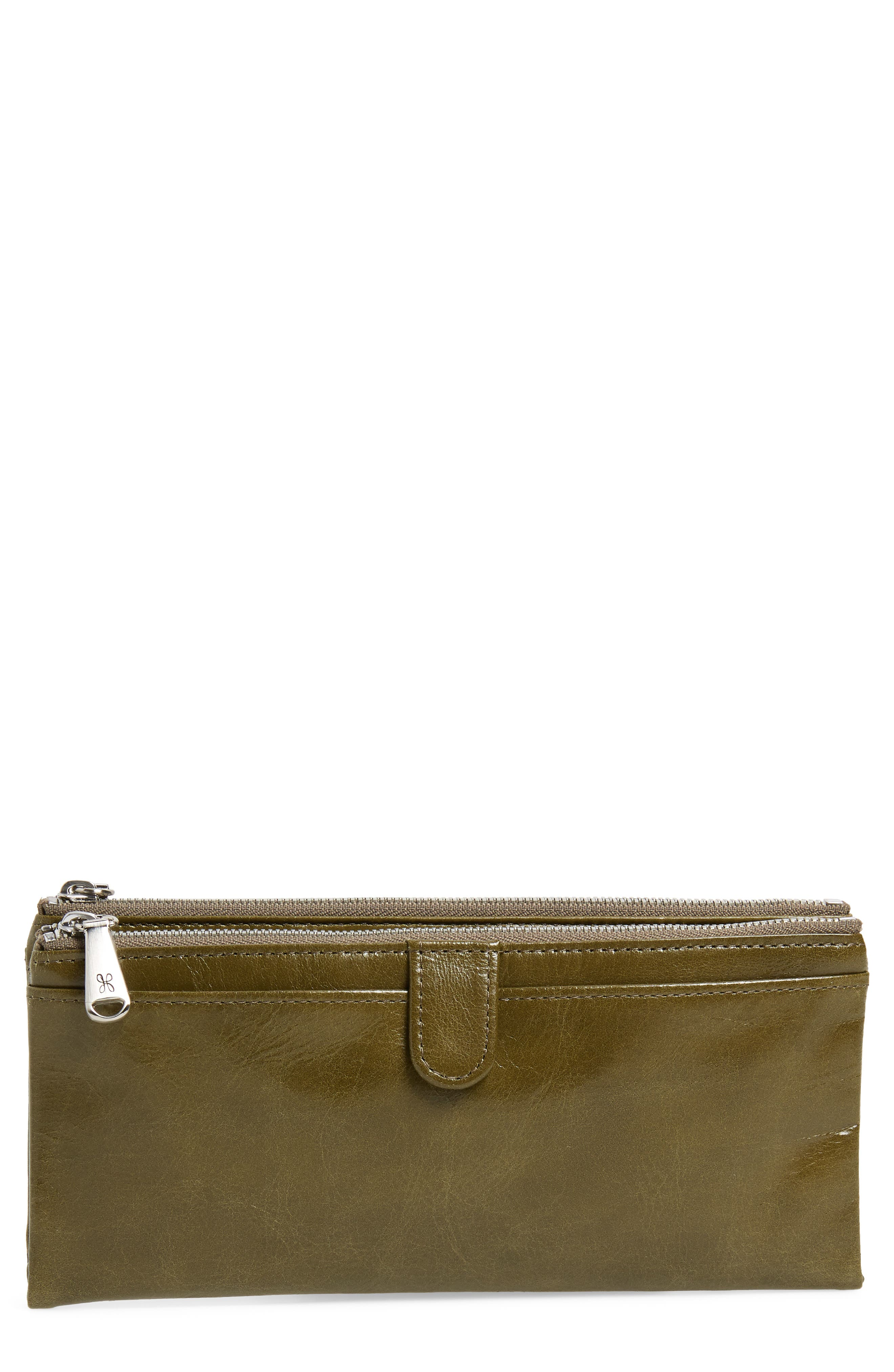 Taylor Glazed Wallet,                         Main,                         color, WILLOW