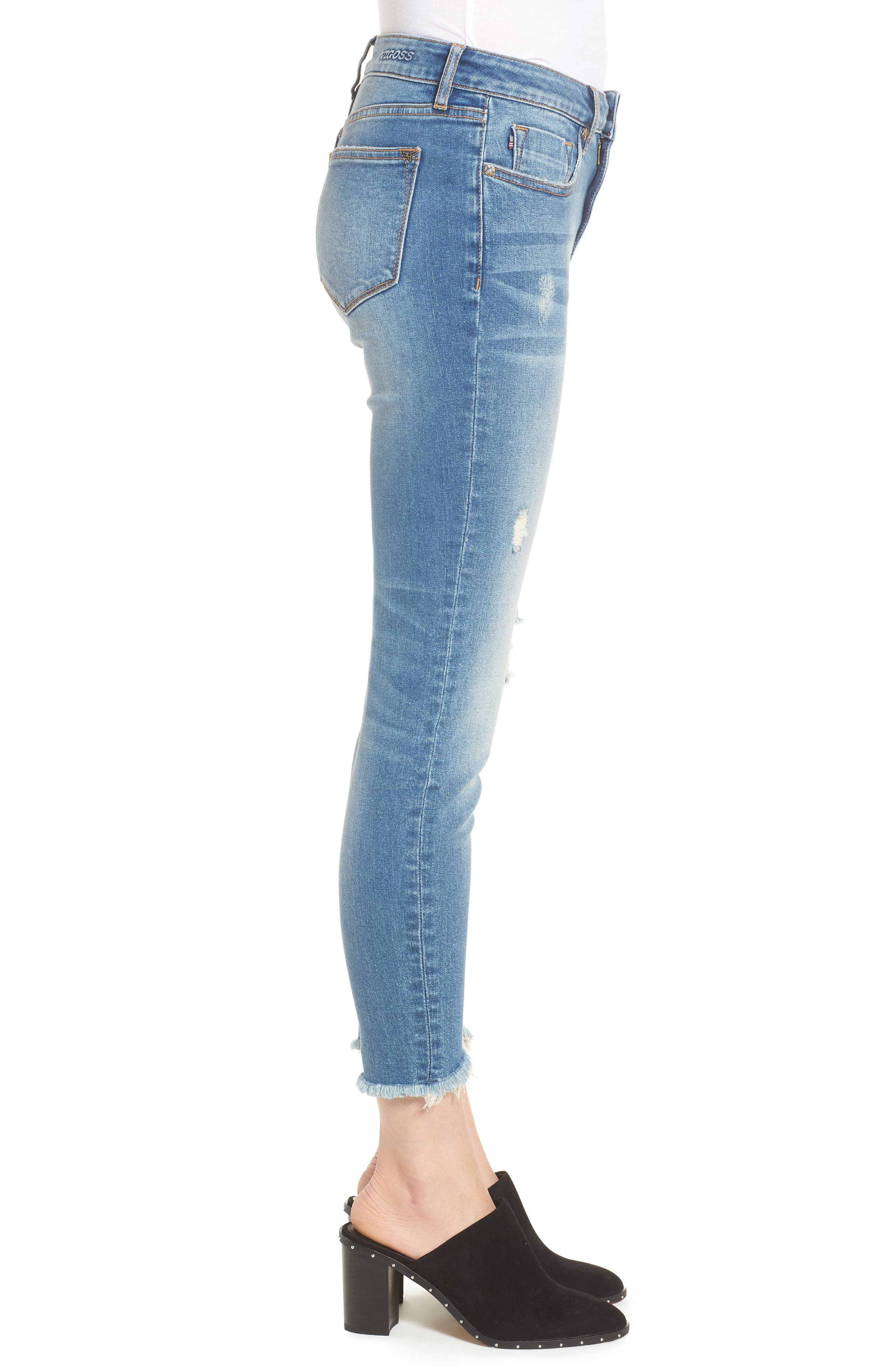 Marley Tulip Hem Ankle Skinny Jeans,                             Alternate thumbnail 3, color,                             400