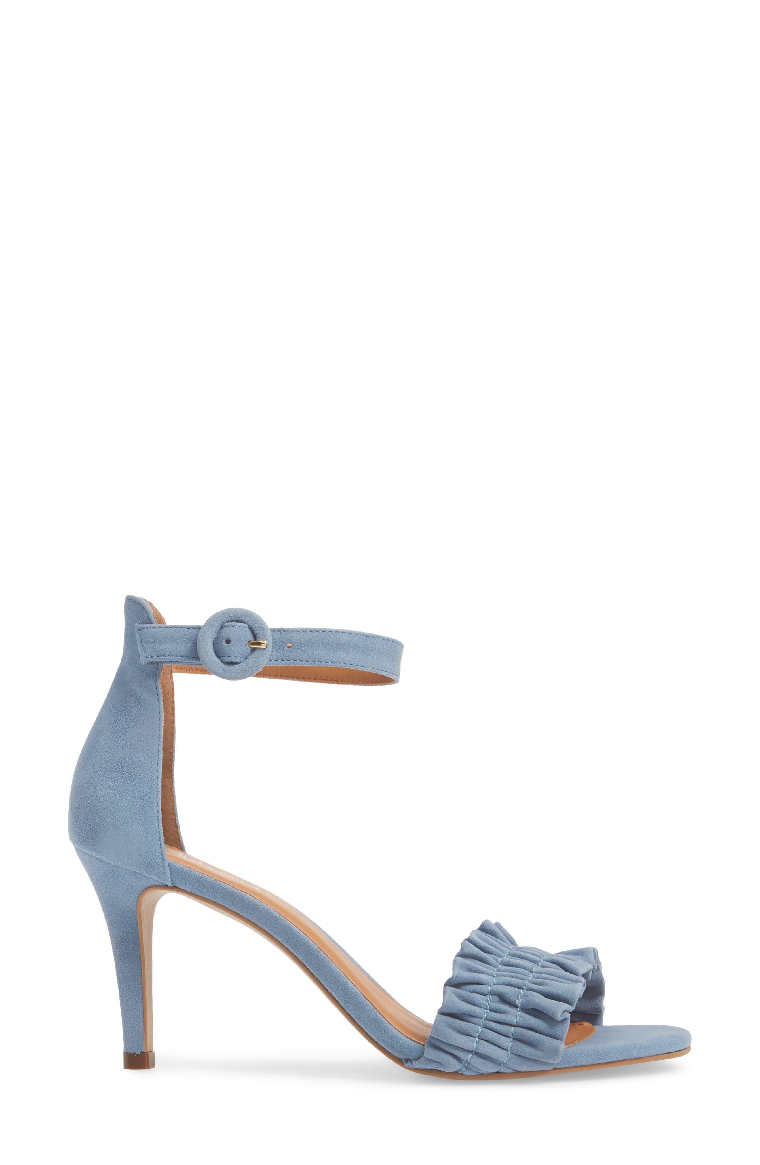 Arlow Sandal,                             Alternate thumbnail 3, color,                             BLUE LEATHER