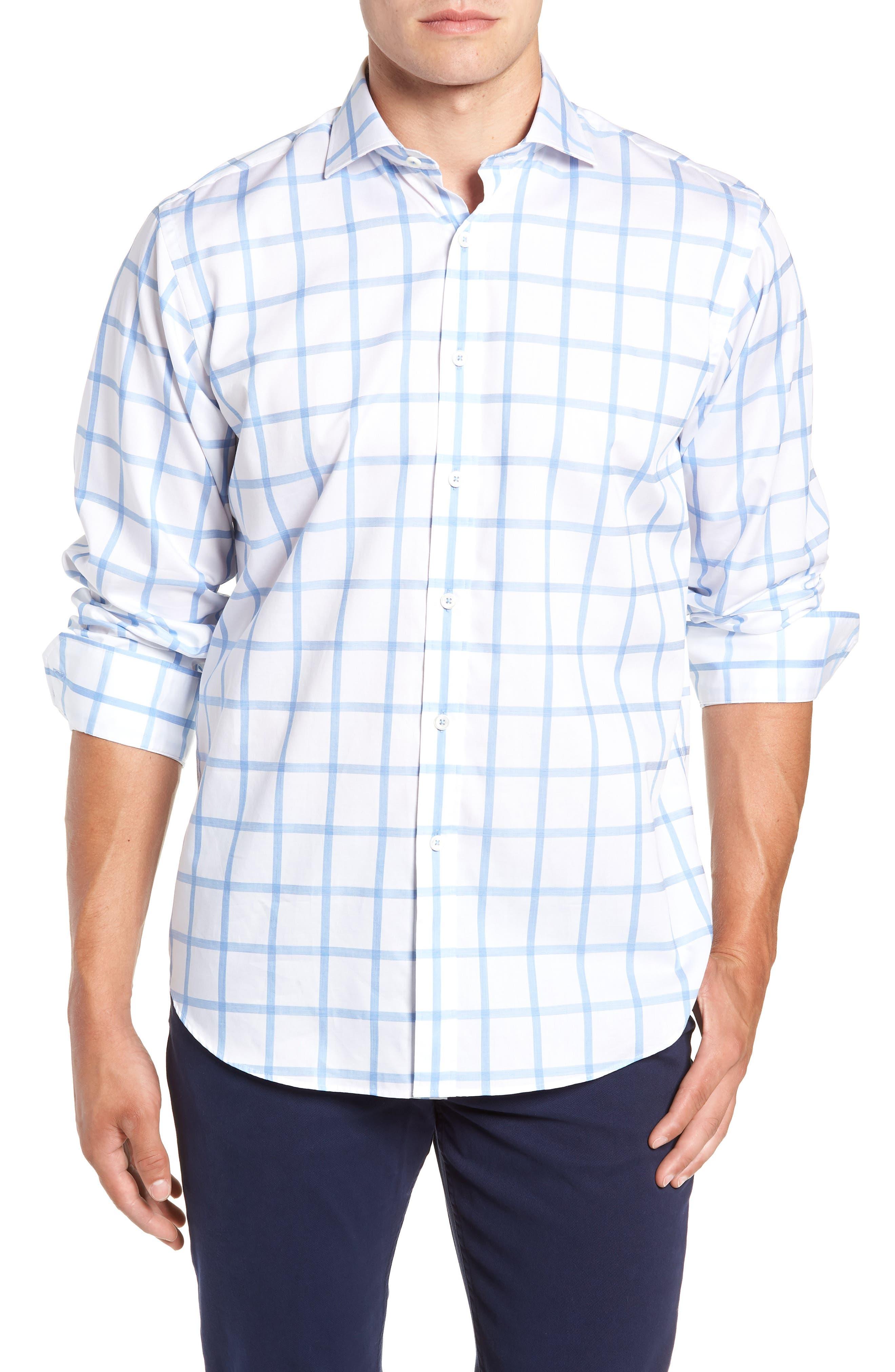 Classic Fit Sport Shirt,                         Main,                         color, SKY