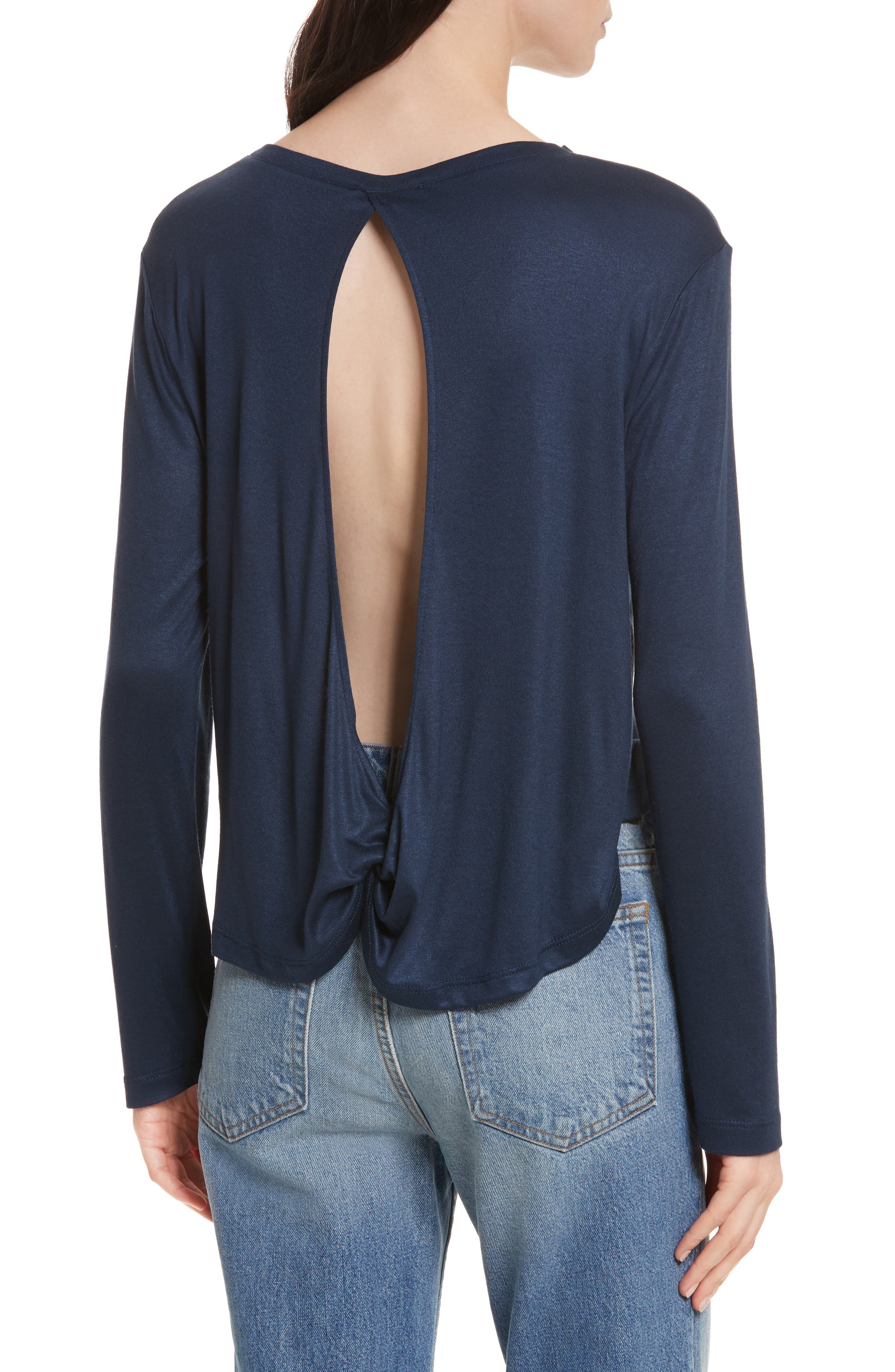 Willow Shine Jersey Open Back Top,                             Alternate thumbnail 3, color,
