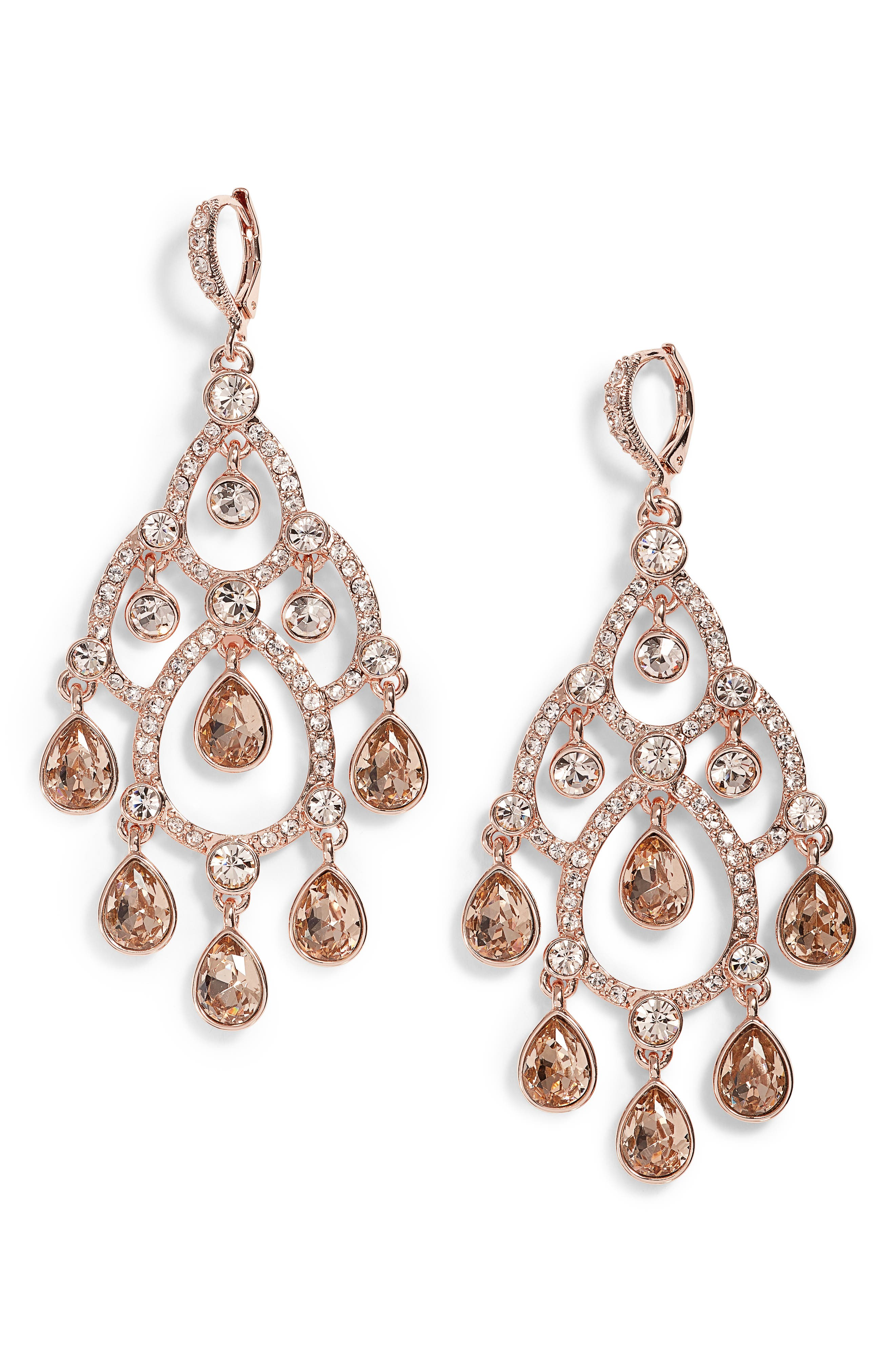 Open Crystal Chandelier Earrings,                             Main thumbnail 3, color,