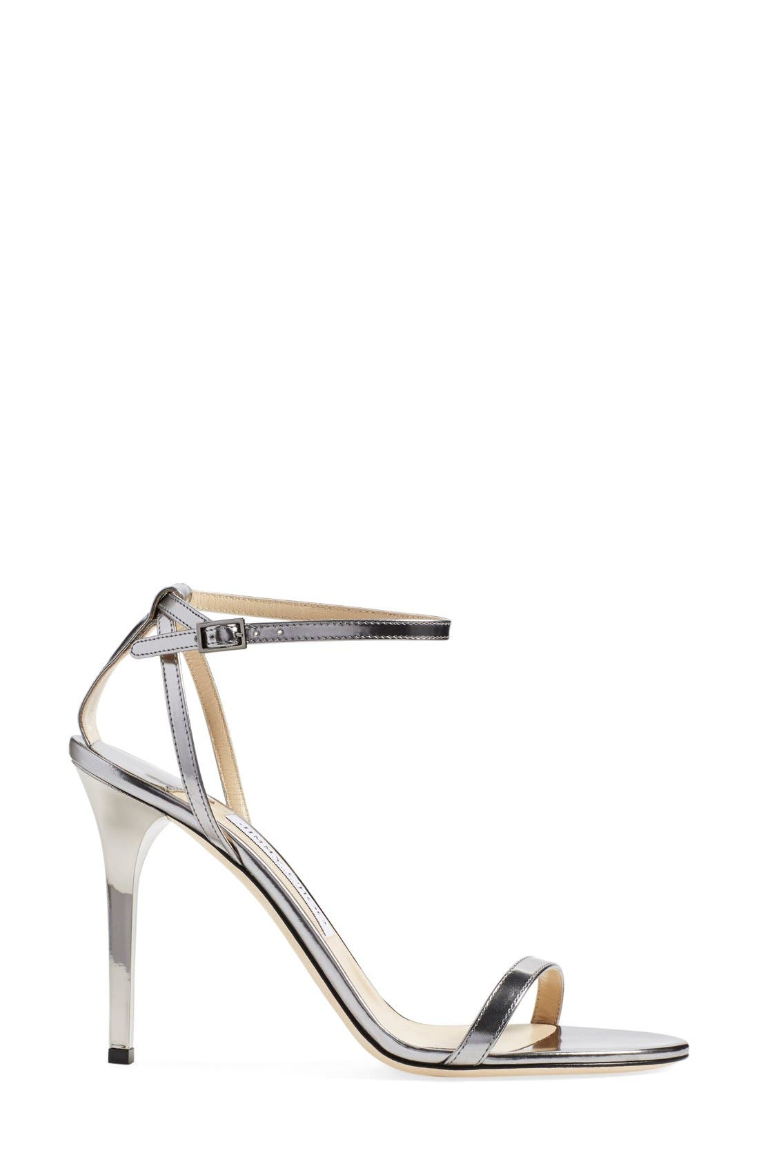 JIMMY CHOO,                             'Minny' Ankle Strap Sandal,                             Alternate thumbnail 4, color,                             040