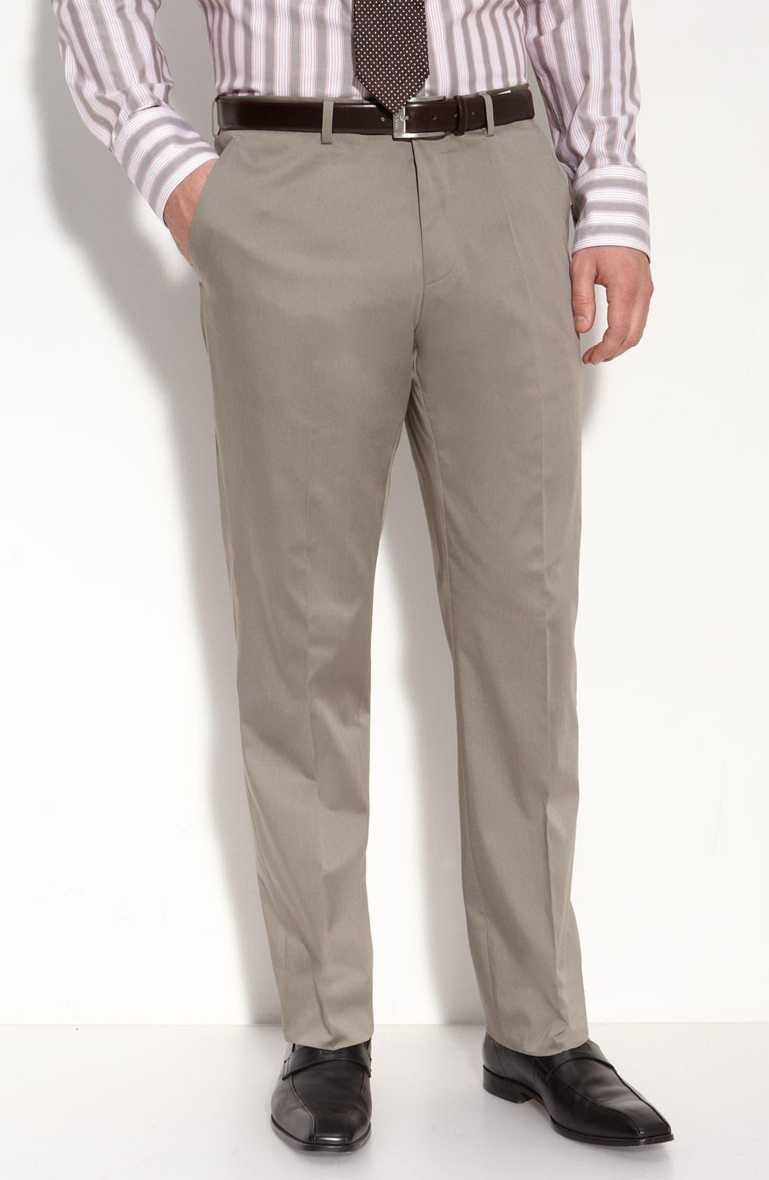 BOSS Black 'The James/Sharp 2' Grey Stretch Cotton Suit,                             Alternate thumbnail 2, color,                             031