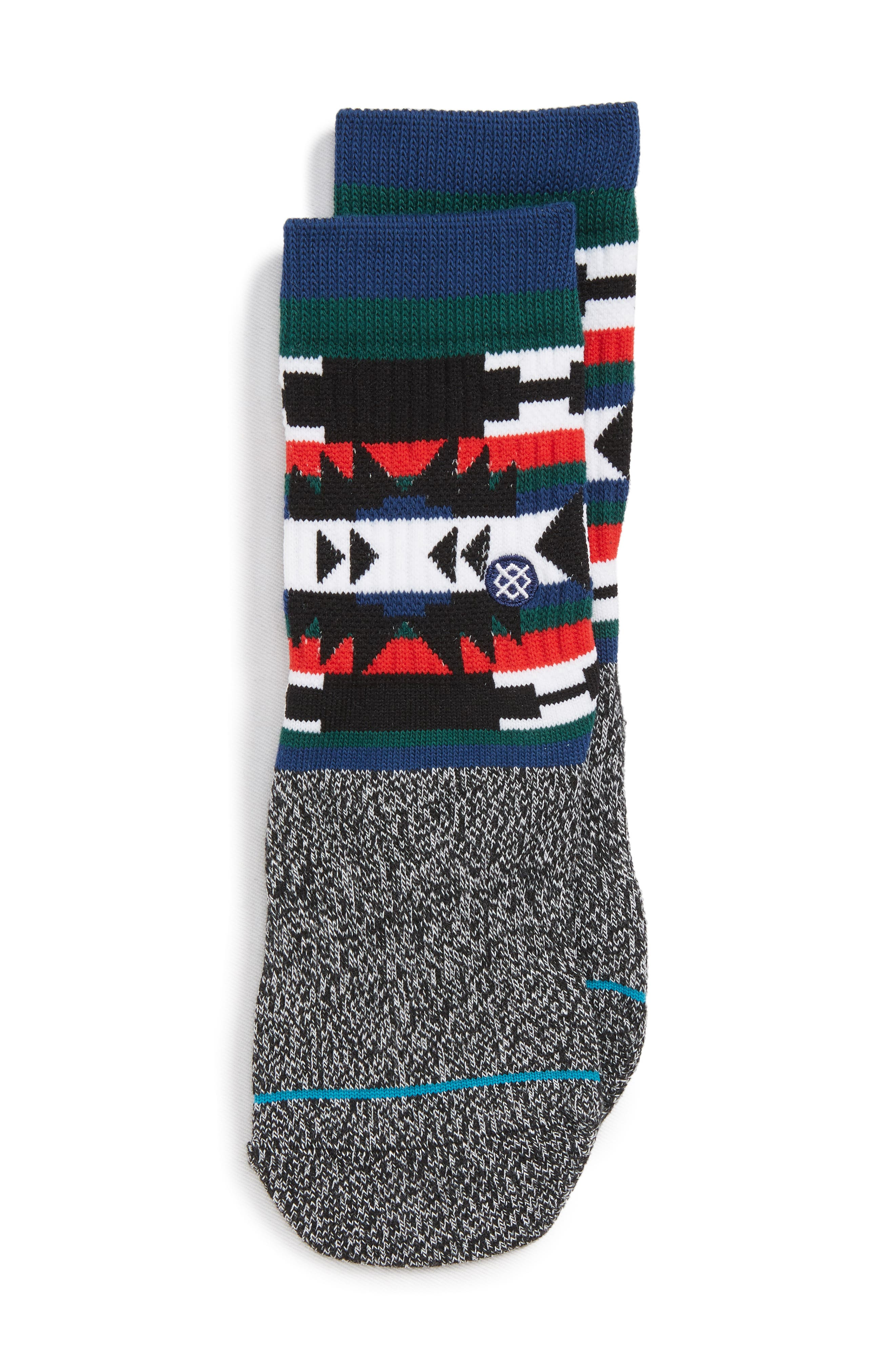 Seapunk Geo Pattern Socks,                             Main thumbnail 1, color,                             020