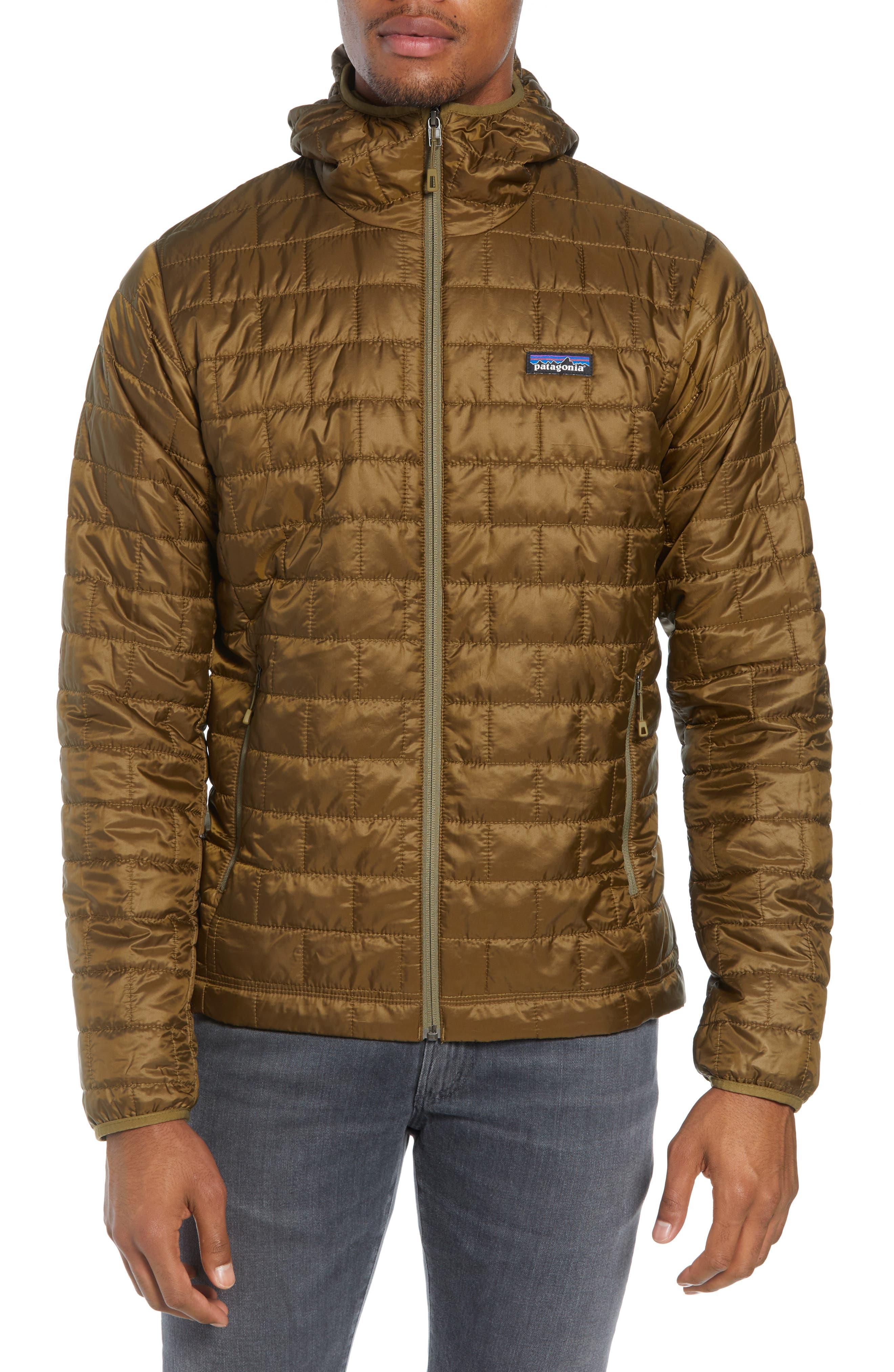 Nano Puff<sup>®</sup> Hooded Jacket,                         Main,                         color, CARGO GREEN