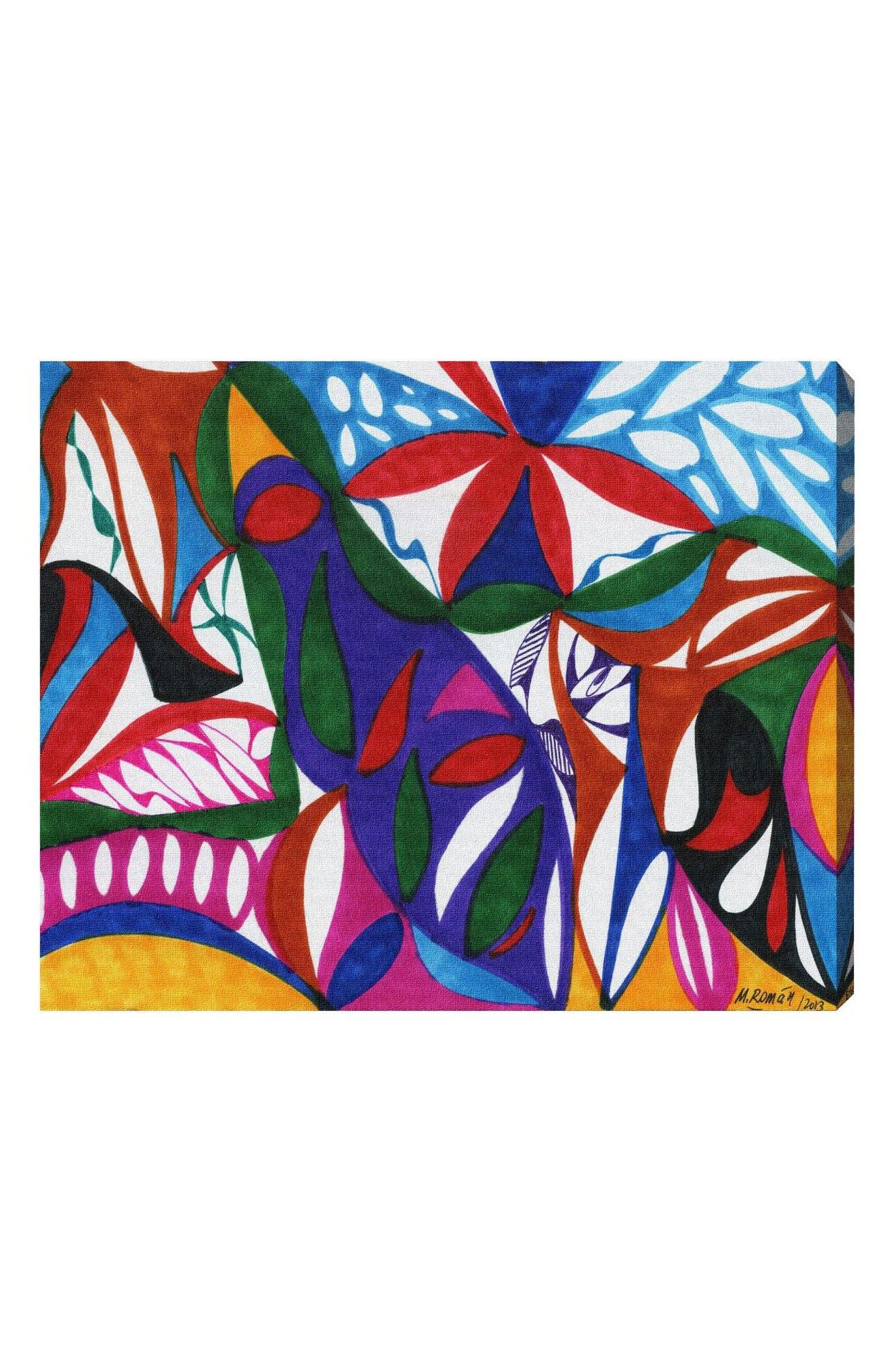 Rhapsodic Canvas Wall Art,                             Main thumbnail 1, color,                             WHITE