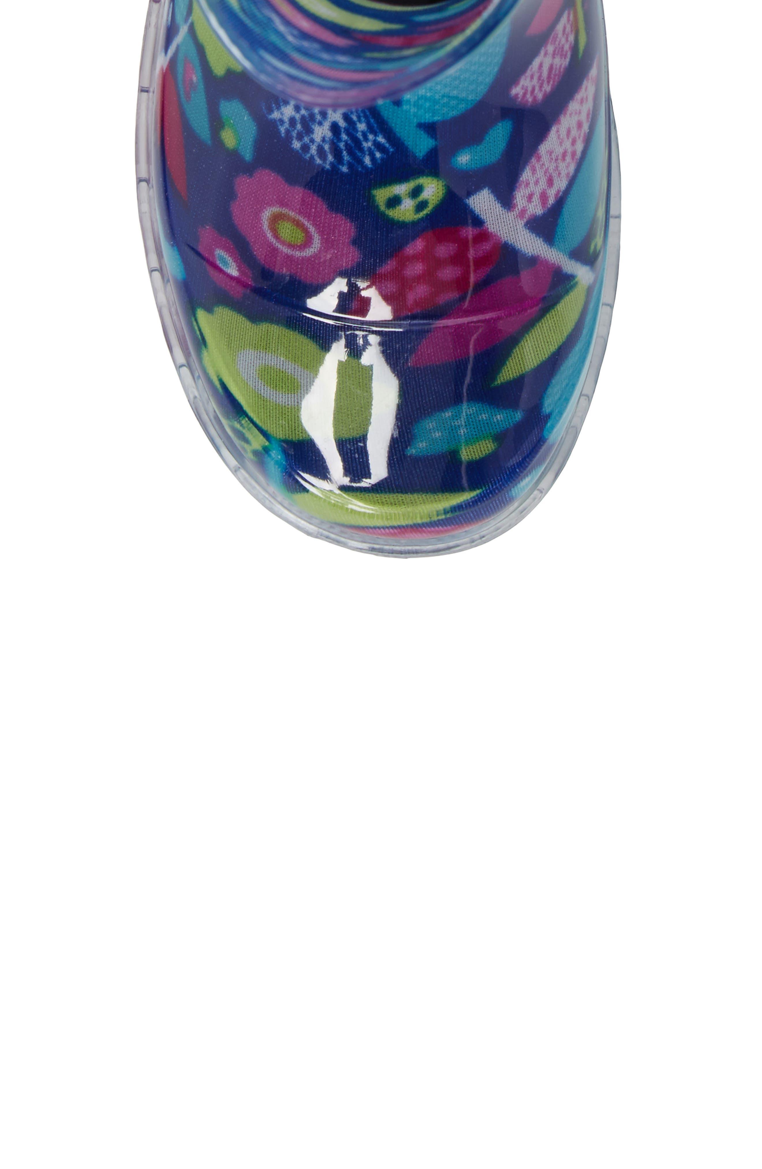 Pop Flower Light-Up Rain Boot,                             Alternate thumbnail 5, color,