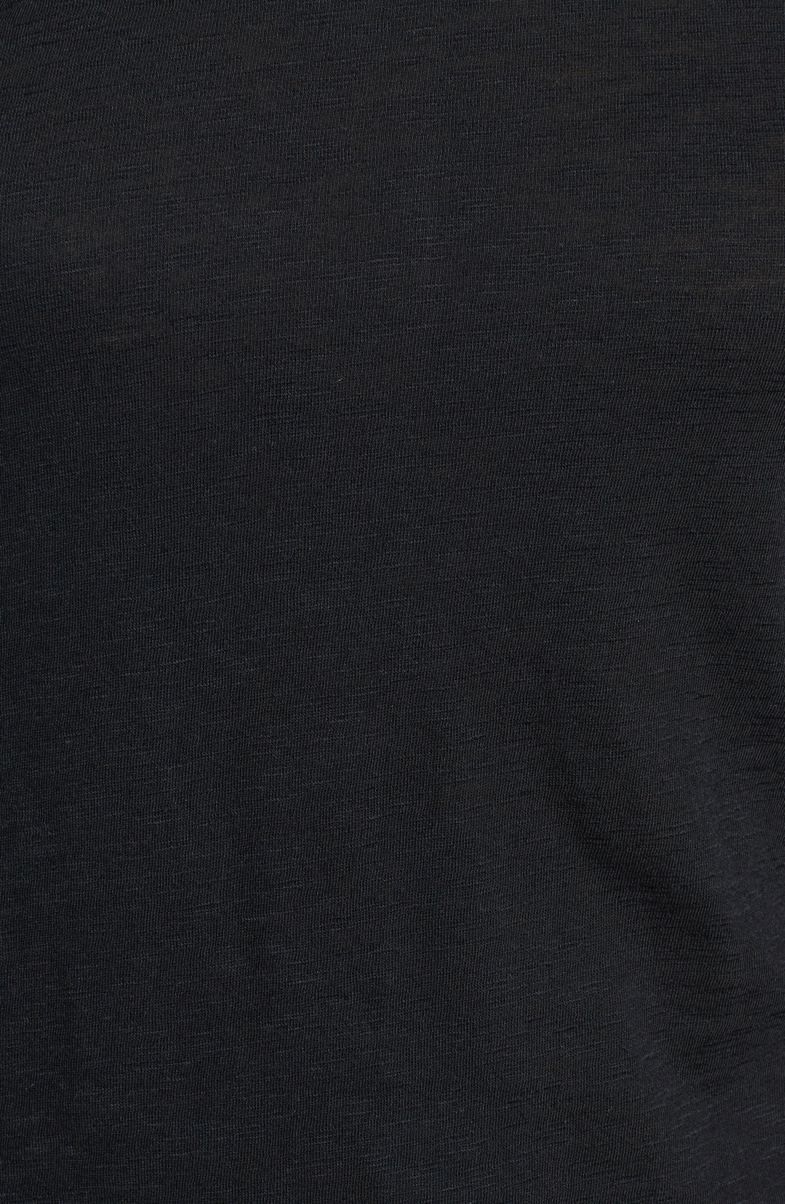 Long Sleeve Crewneck Tee,                             Alternate thumbnail 7, color,                             BLACK