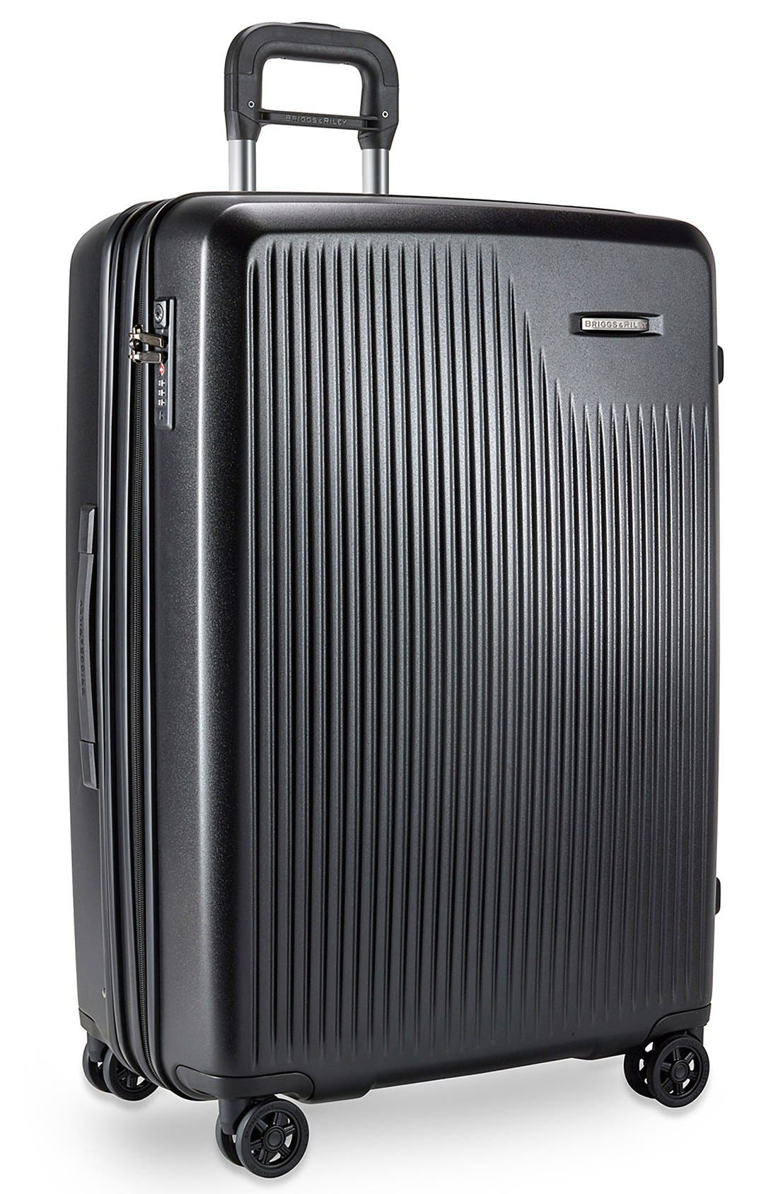 'Sympatico' Expandable Wheeled Packing Case,                             Alternate thumbnail 2, color,                             BLACK