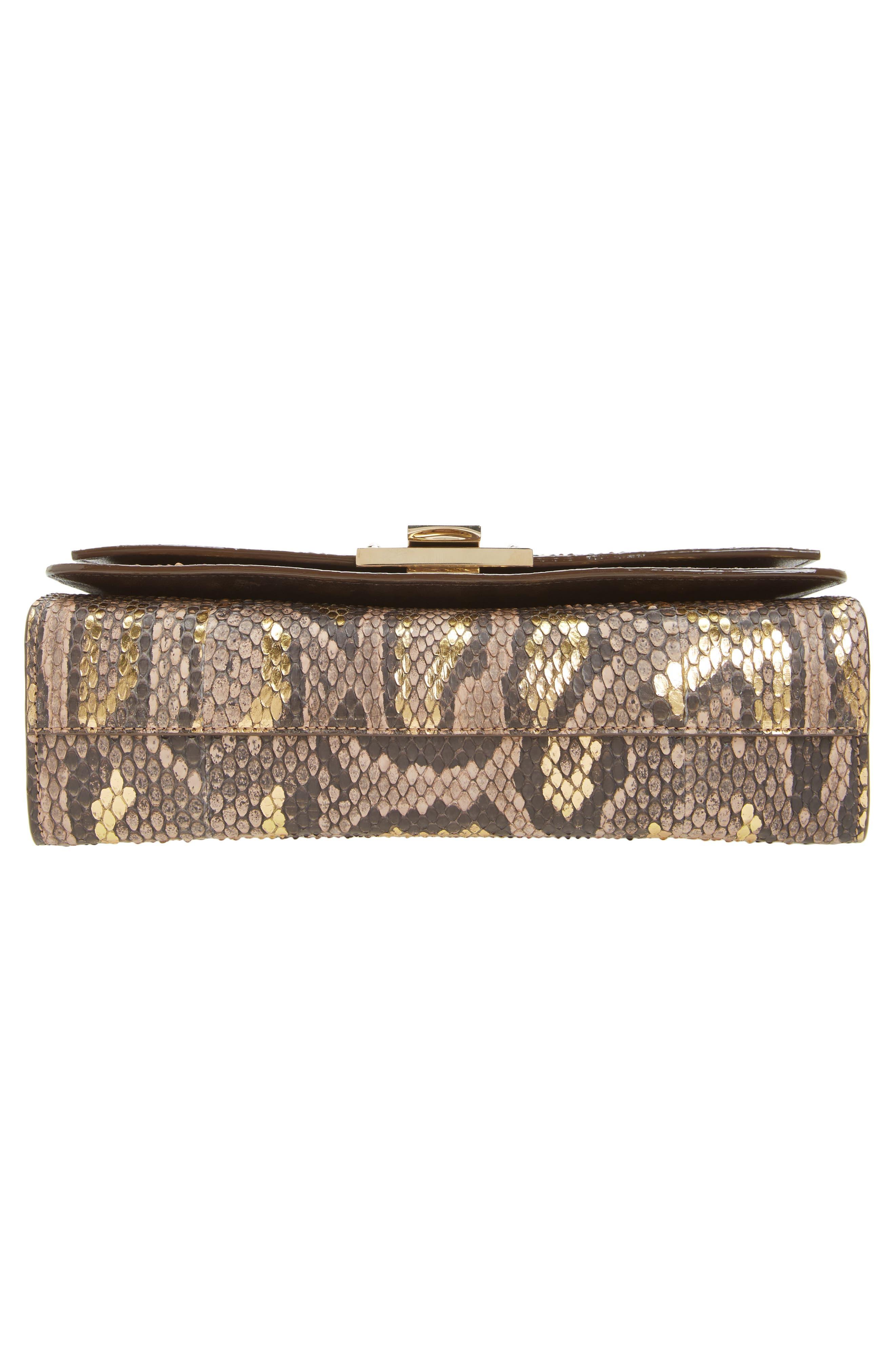 Rebel Genuine Python Crossbody Bag,                             Alternate thumbnail 6, color,                             250