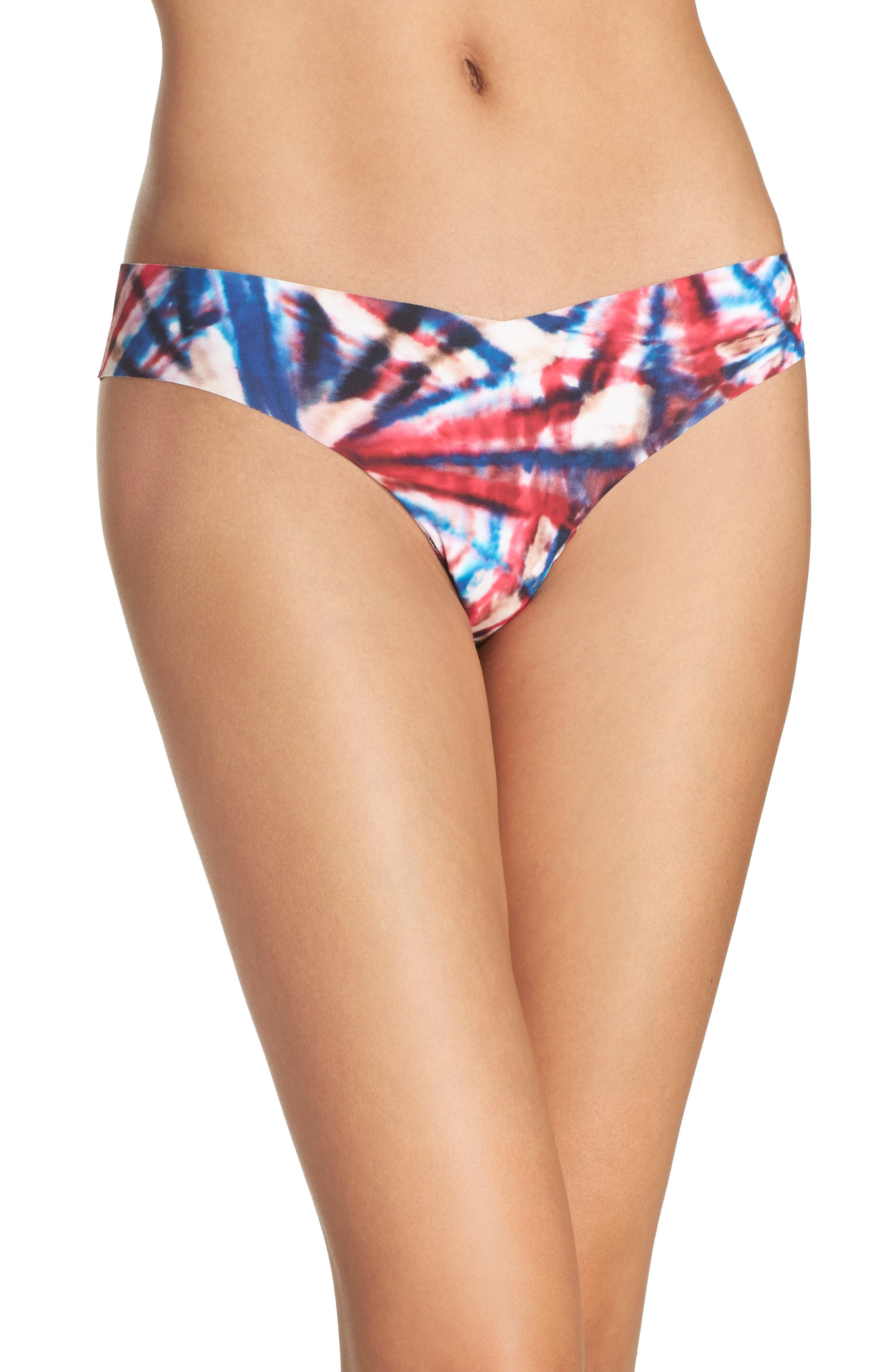 Print Microfiber Thong,                             Main thumbnail 76, color,