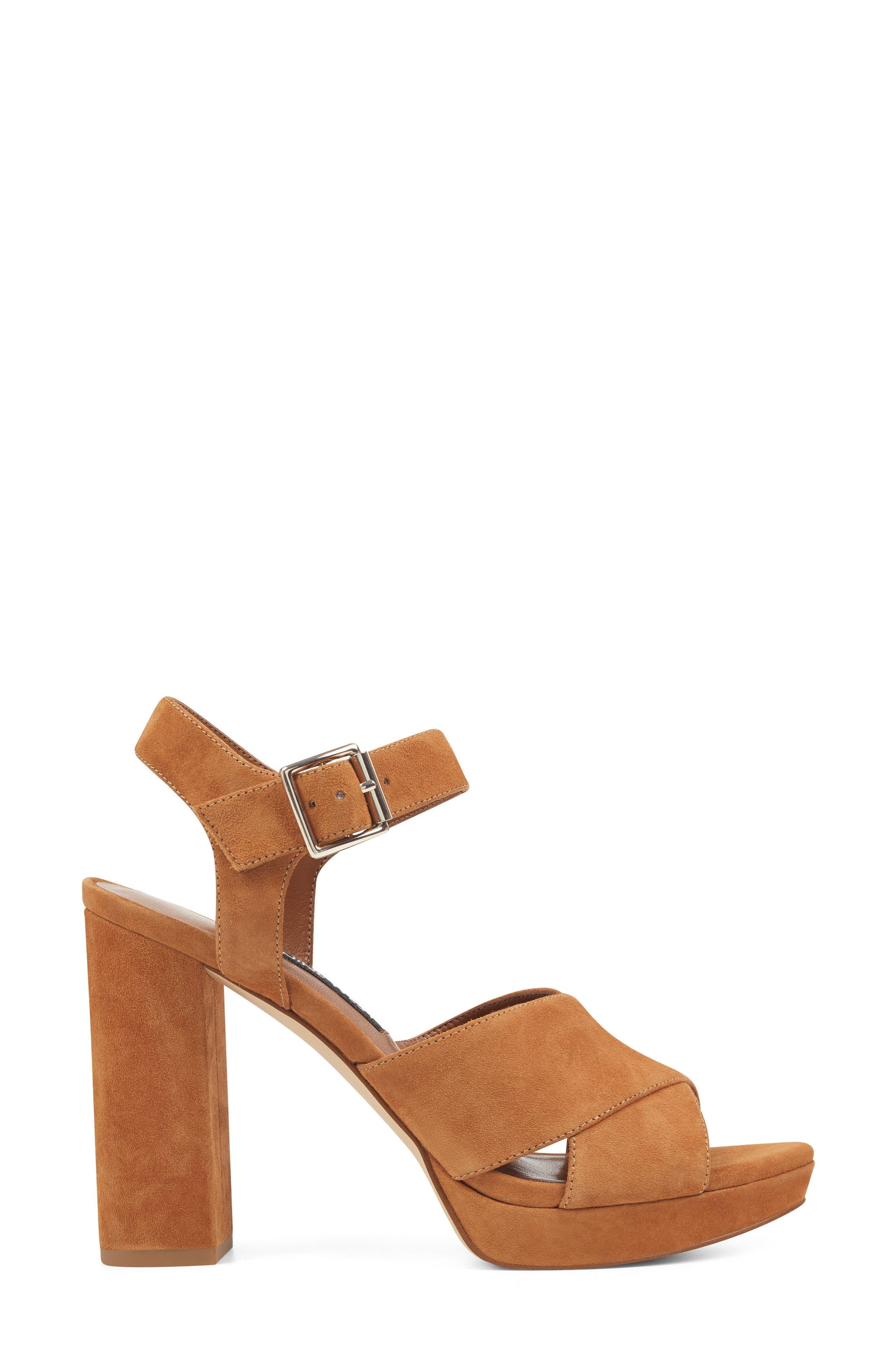 Jimar Platform Sandal,                             Alternate thumbnail 3, color,                             DARK NATURAL SUEDE