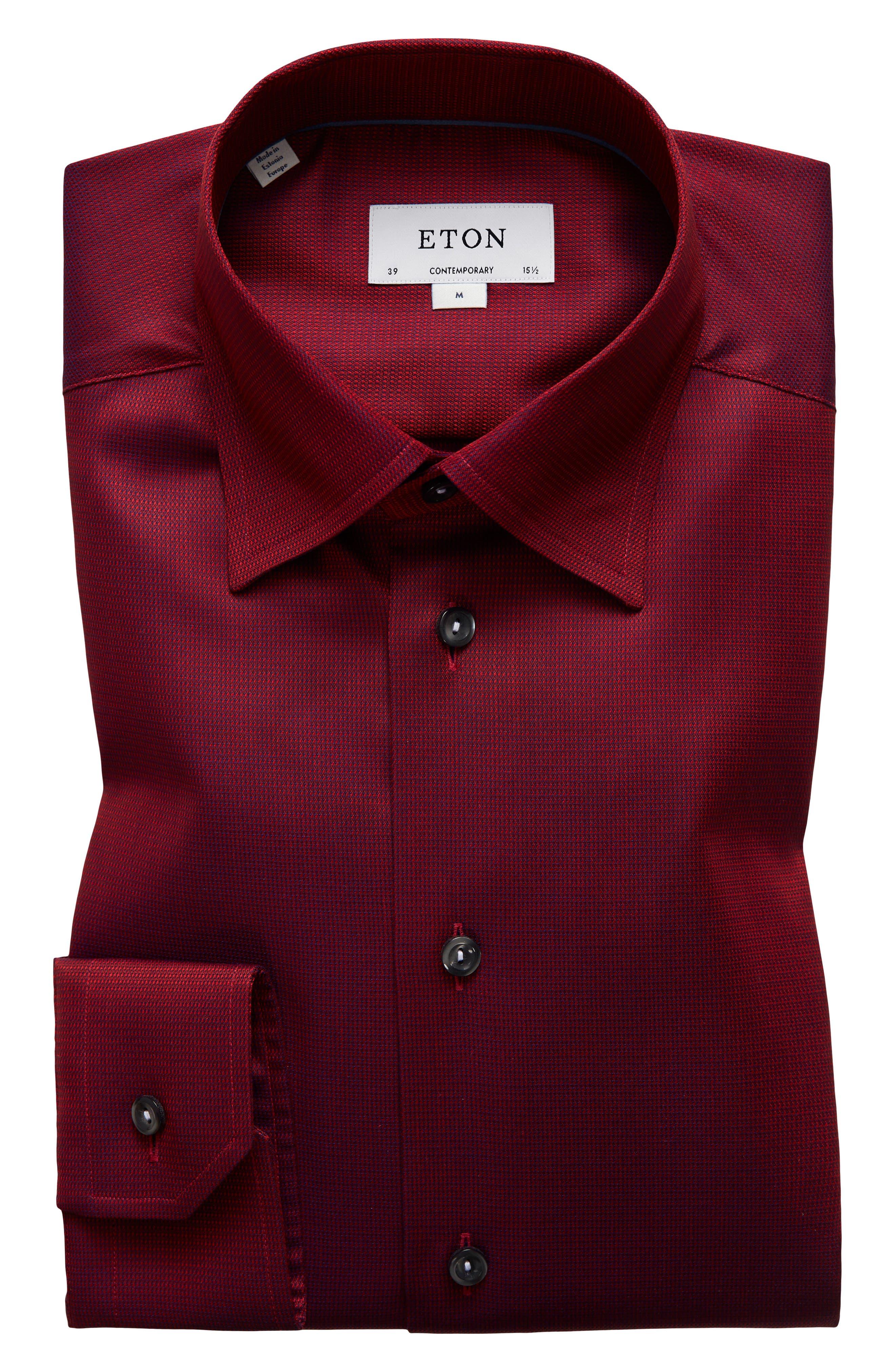 Contemporary Fit Solid Dress Shirt,                             Main thumbnail 2, color,