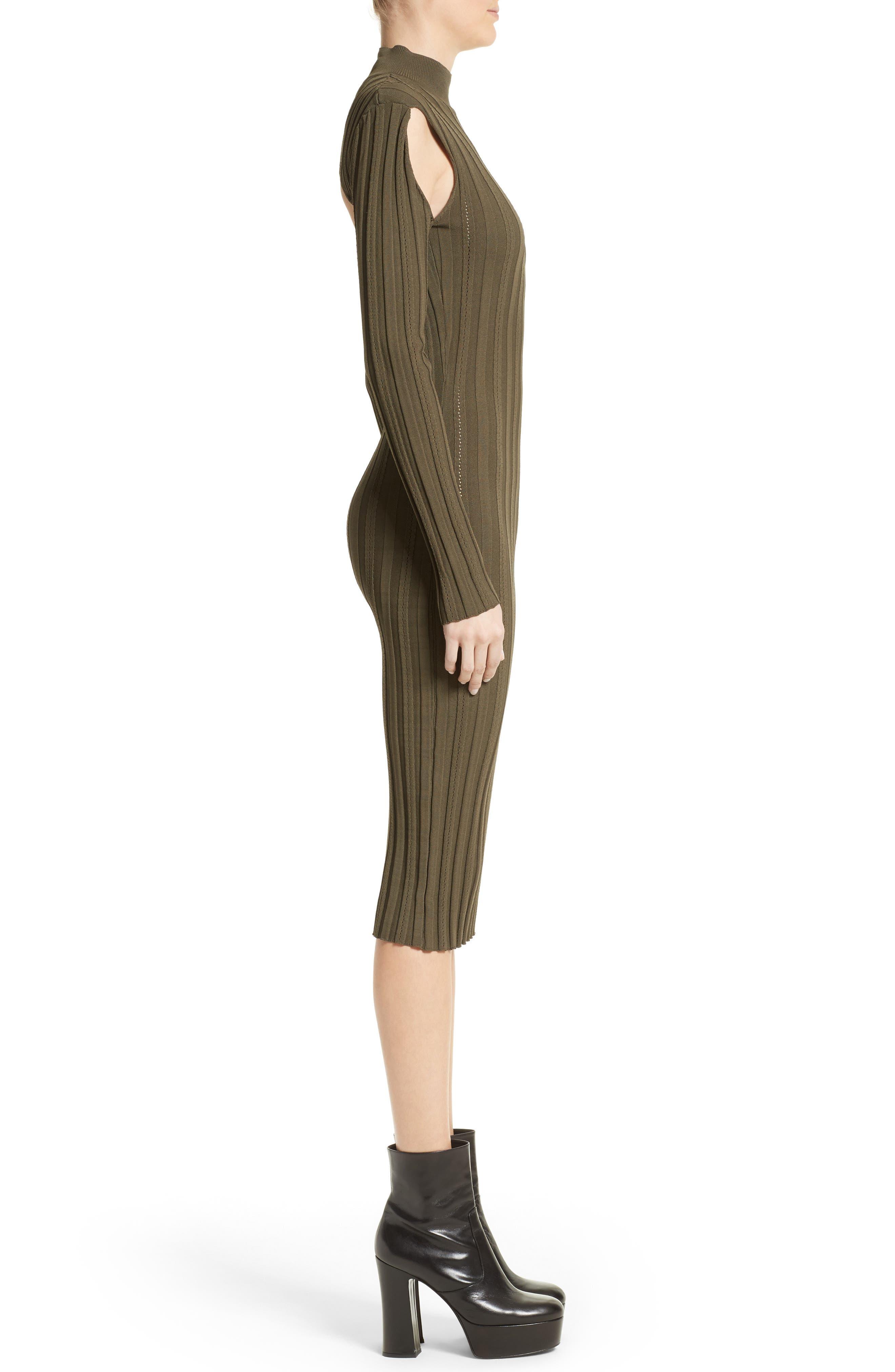Cutout Knit Dress,                             Alternate thumbnail 3, color,                             341