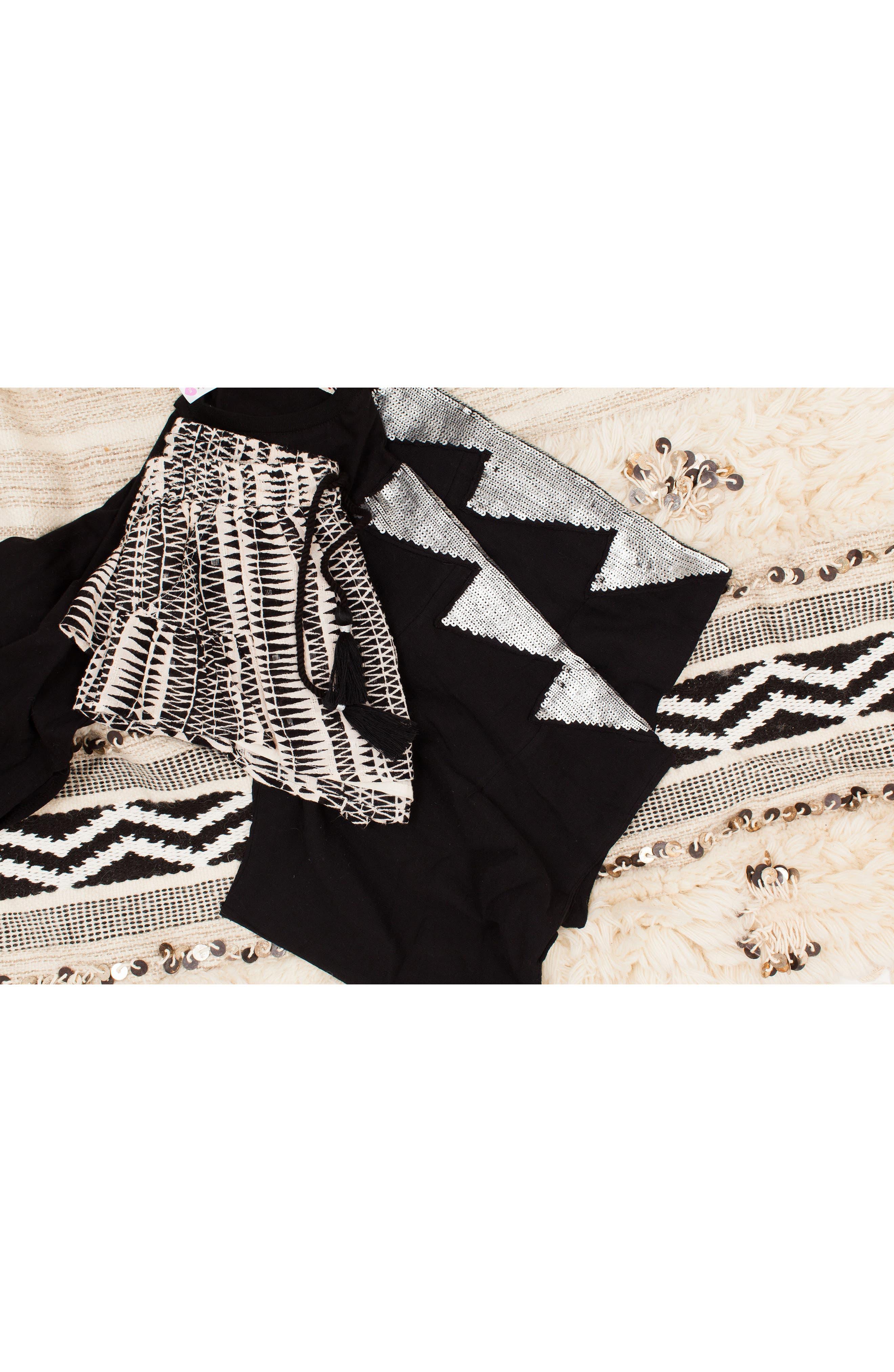 Little Dipper Print Shorts,                             Alternate thumbnail 6, color,                             BLACK