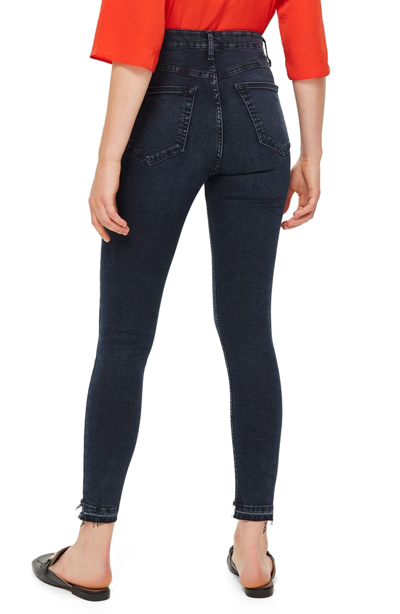 Jamie Step Hem Skinny Jeans,                             Alternate thumbnail 2, color,                             DARK BLUE