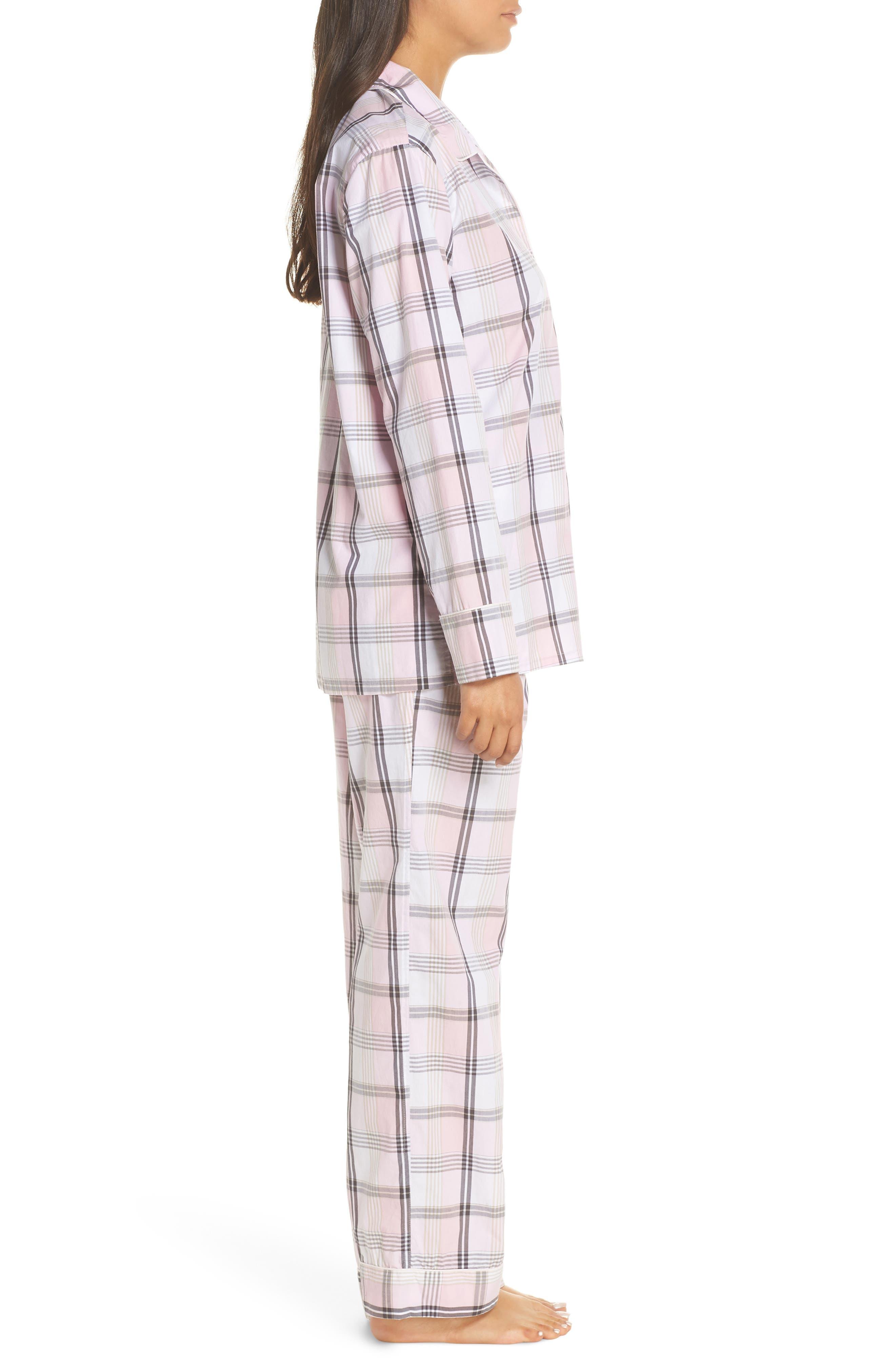 Cotton Pajamas,                             Alternate thumbnail 3, color,                             PINK COAL