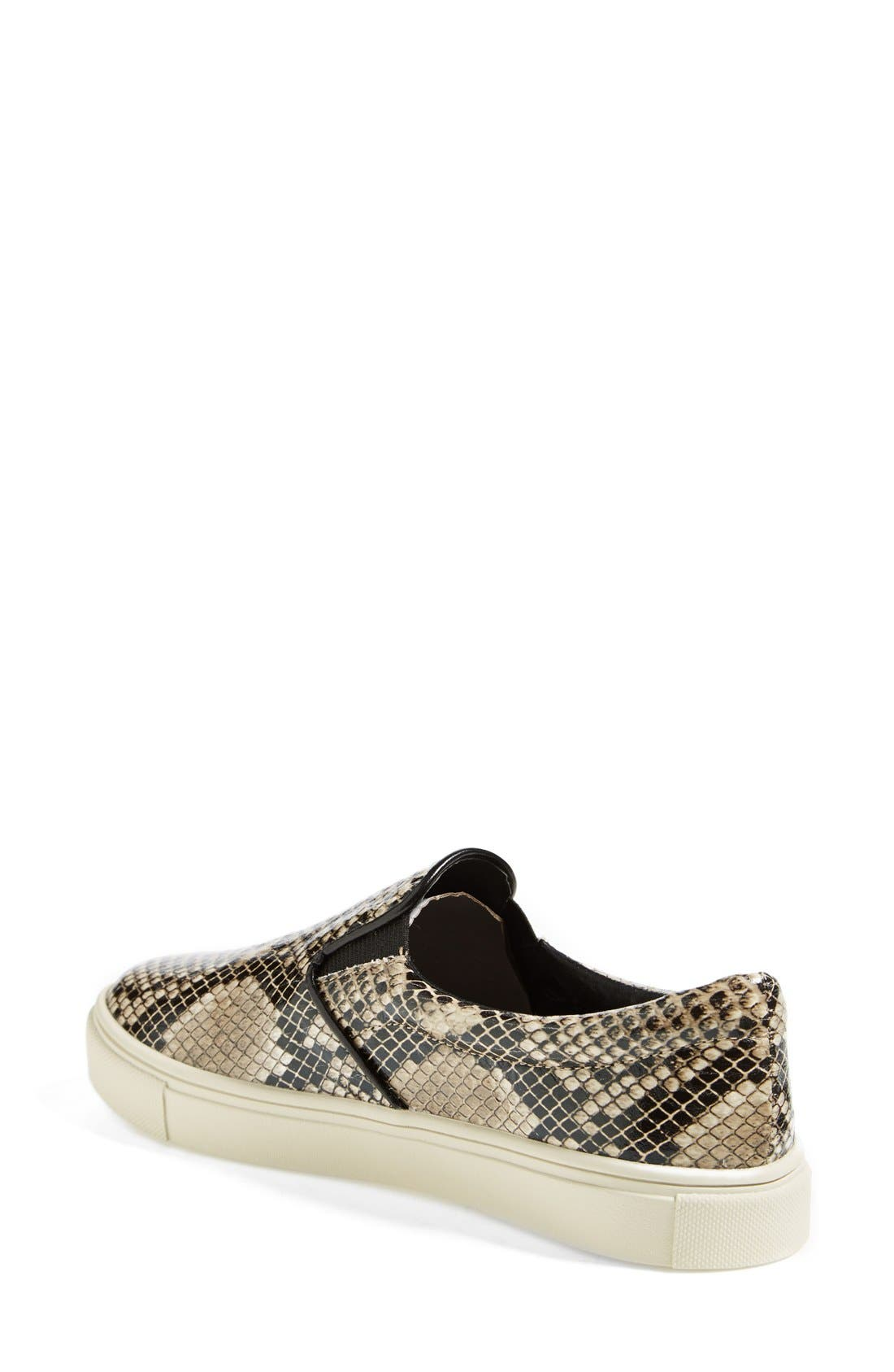 'Ecntrc-c' Snake-Embossed Slip-On Sneaker,                             Alternate thumbnail 4, color,