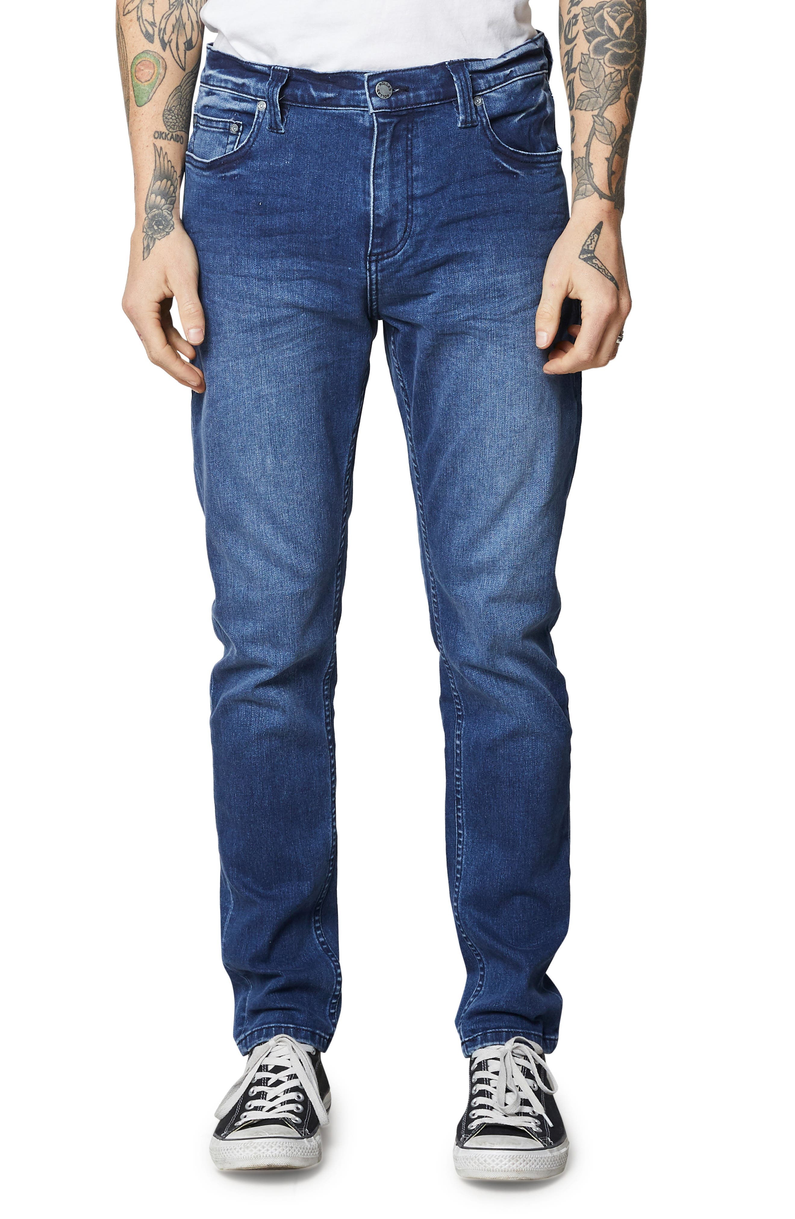 ROLLA'S,                             Tim Slims Slim Fit Jeans,                             Main thumbnail 1, color,                             FOSTERS BLUE
