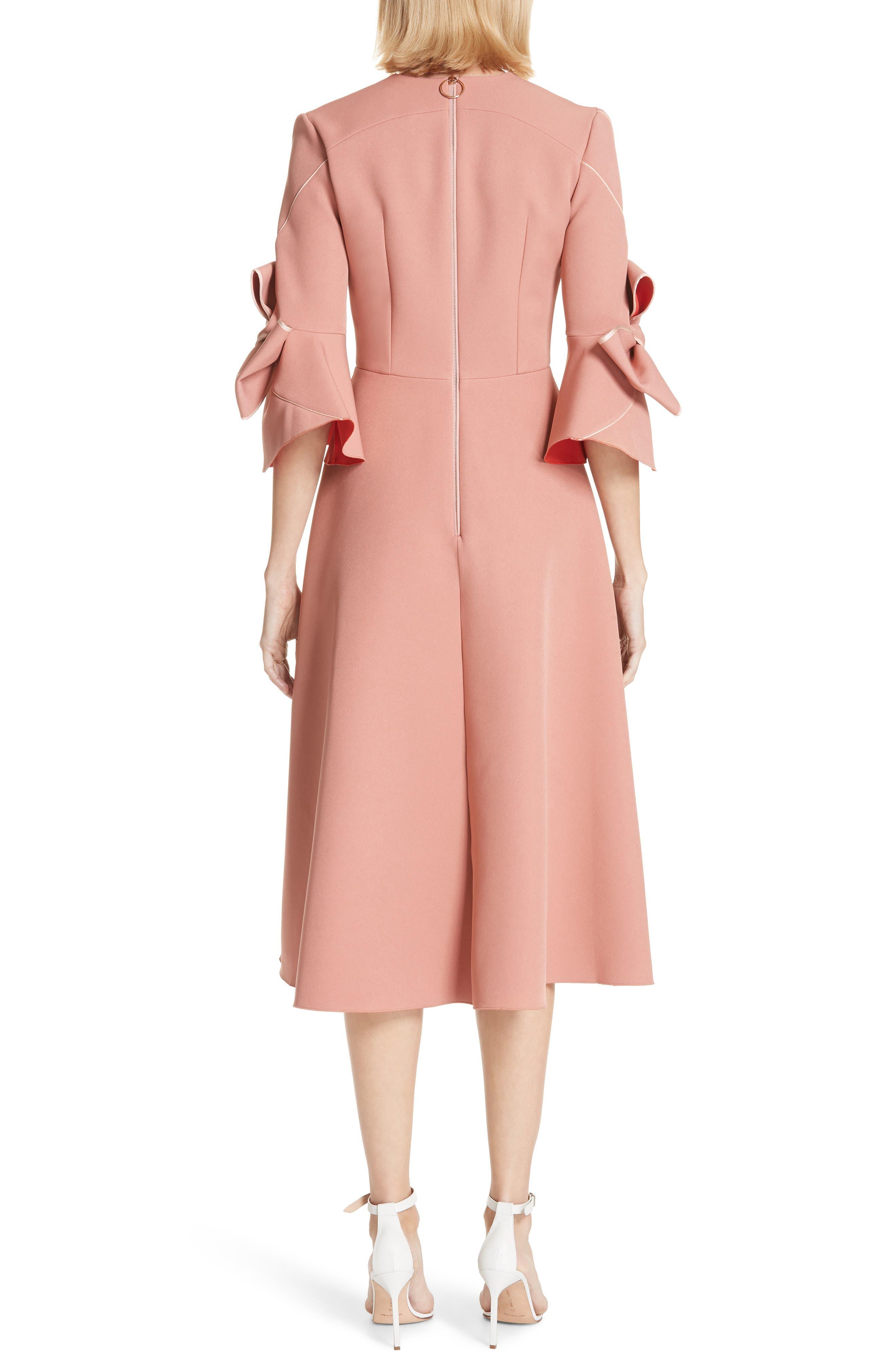 Sibella Bow Trim Dress,                             Alternate thumbnail 2, color,                             950