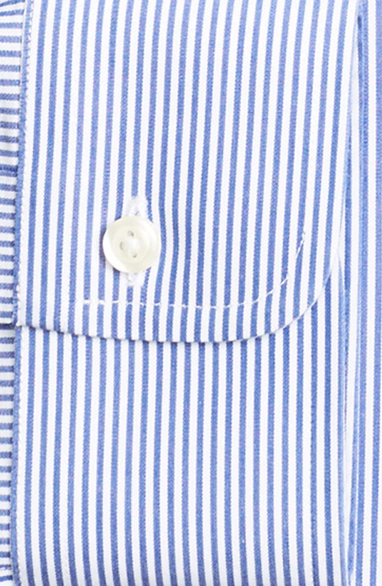 Classic Fit Stripe Dress Shirt,                             Alternate thumbnail 2, color,                             BLUE