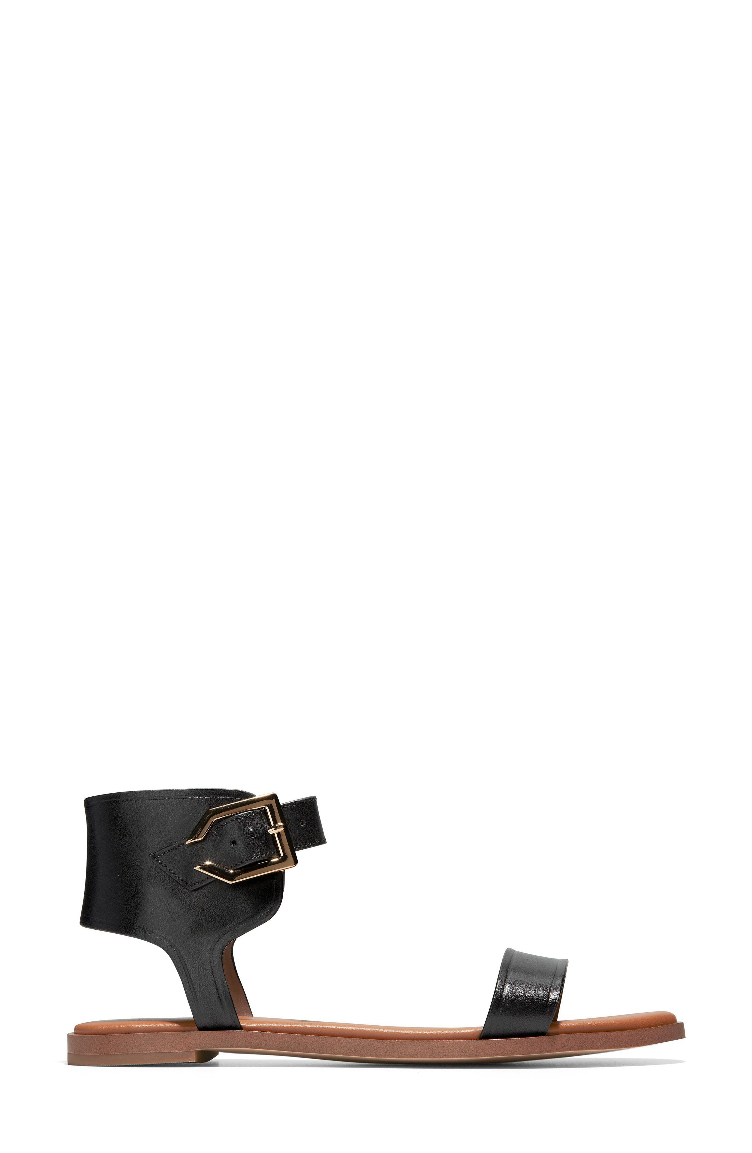 COLE HAAN,                             Anica Cuffed Sandal,                             Alternate thumbnail 3, color,                             001