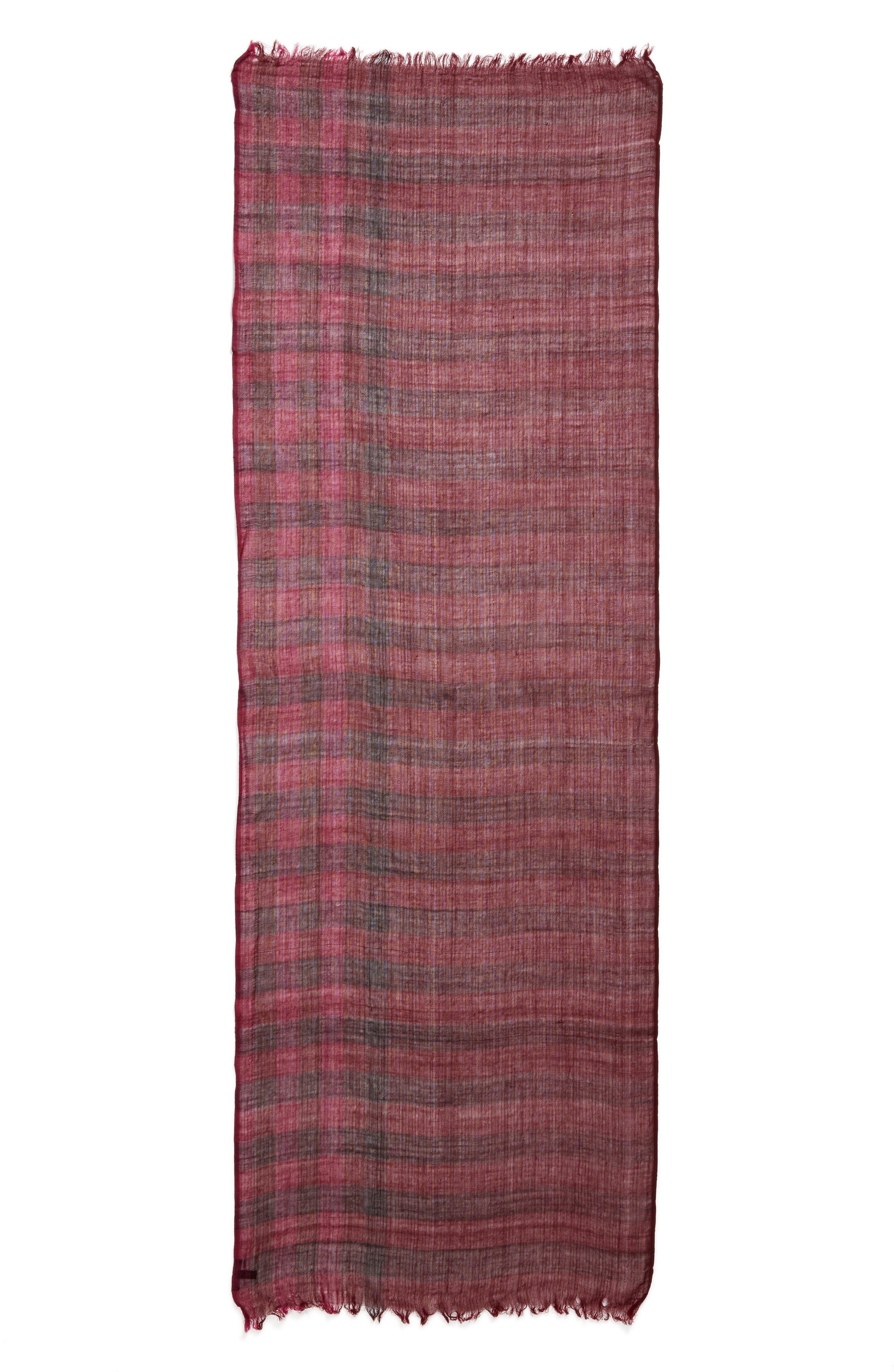 Plaid Wool Scarf,                             Alternate thumbnail 11, color,