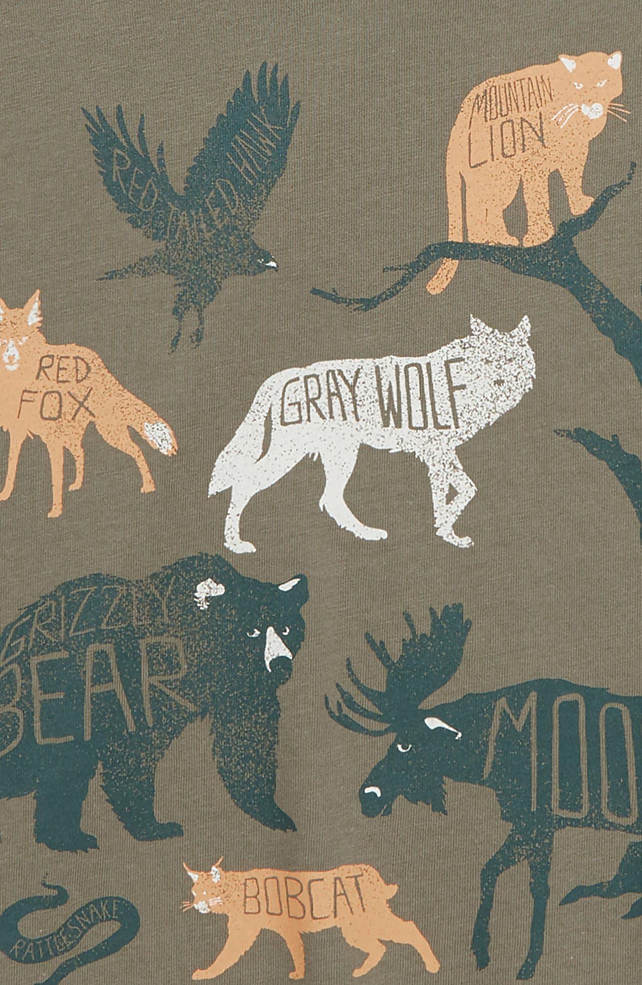 Glacier National Park T-Shirt,                             Alternate thumbnail 3, color,                             OLIVE