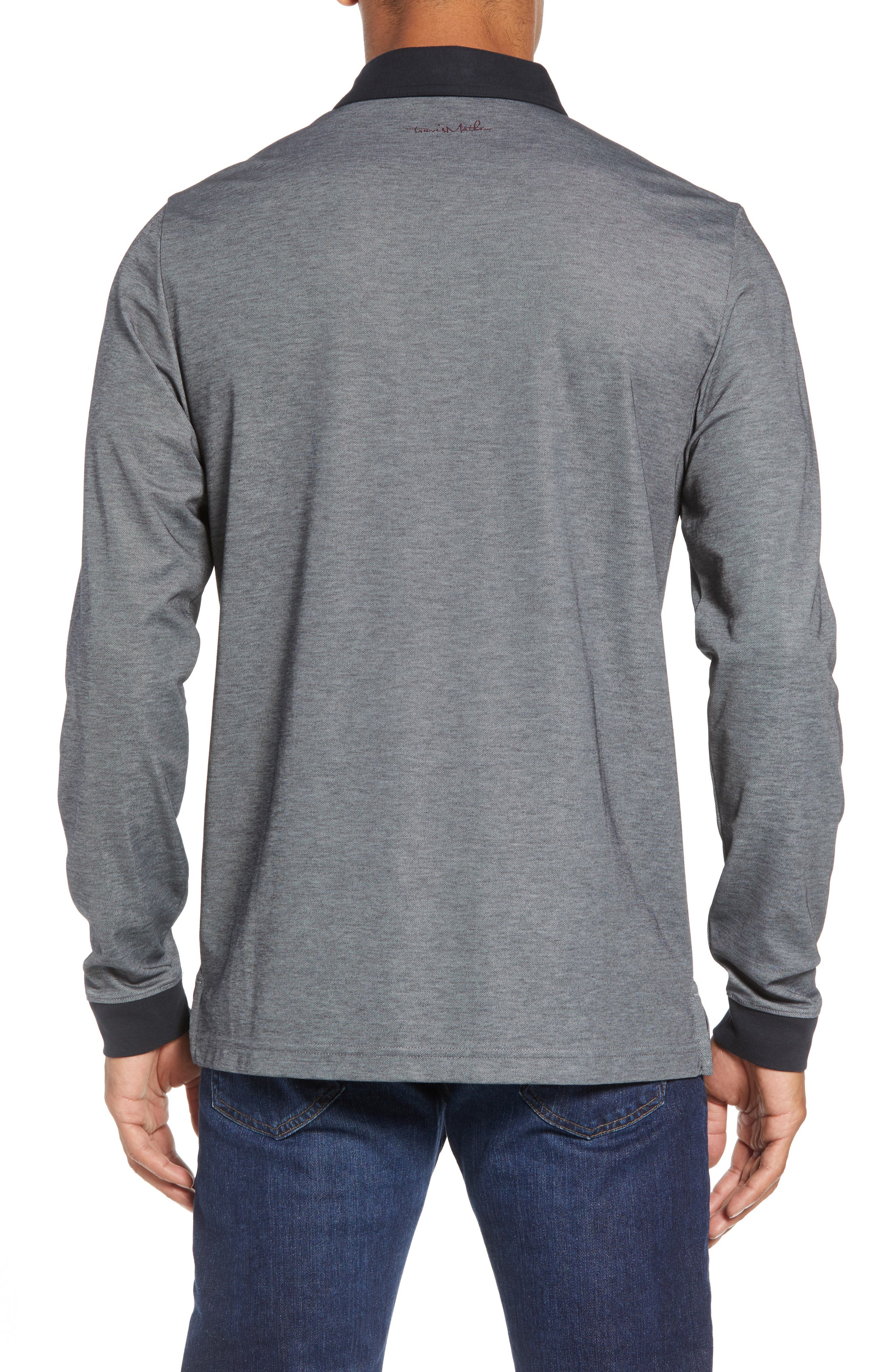 Kay Regular Fit Long Sleeve Polo Shirt,                             Alternate thumbnail 2, color,                             HEATHER CASTLEROCK