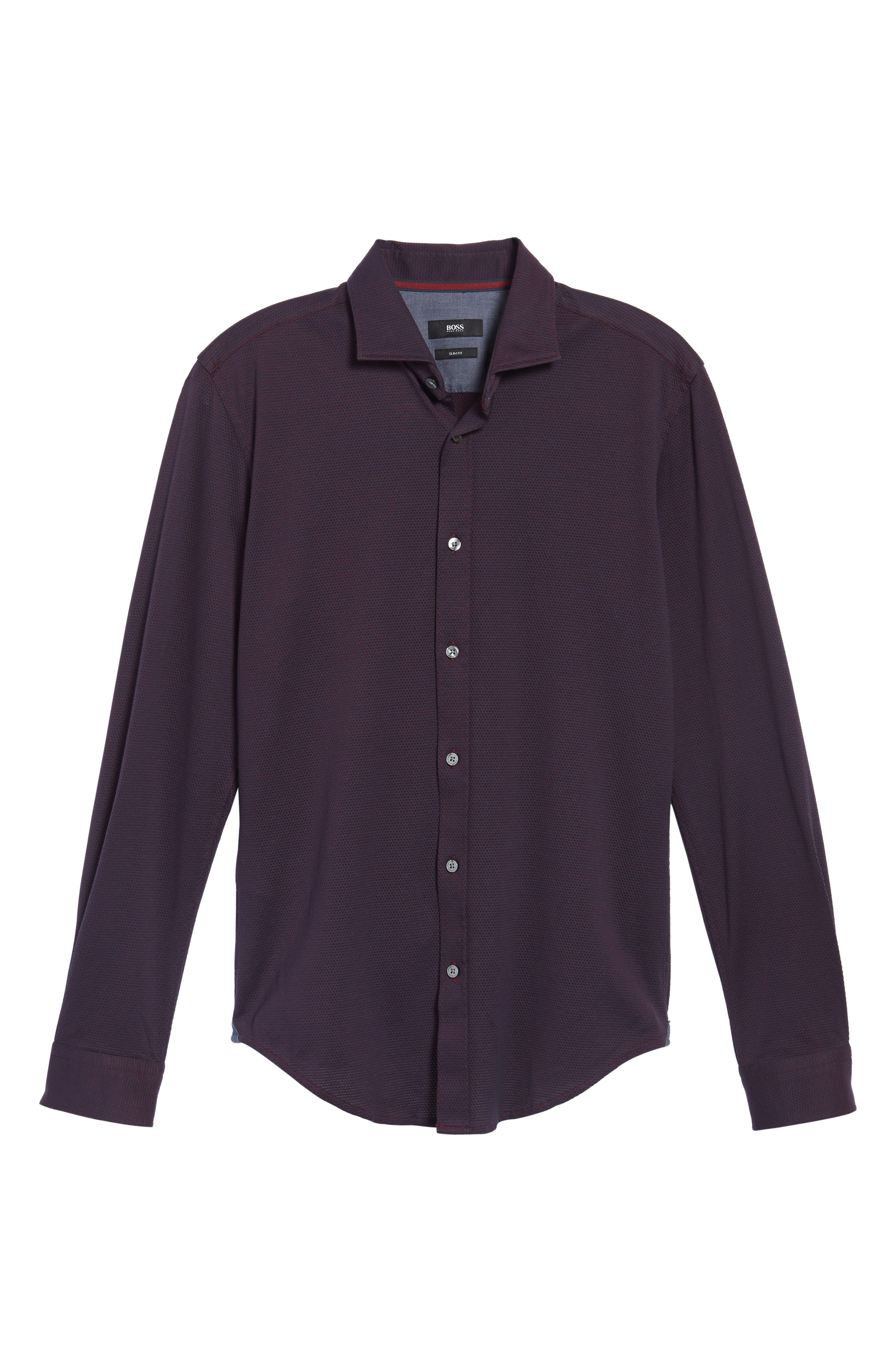 Ridley Slim Fit Jersey Sport Shirt,                             Alternate thumbnail 6, color,