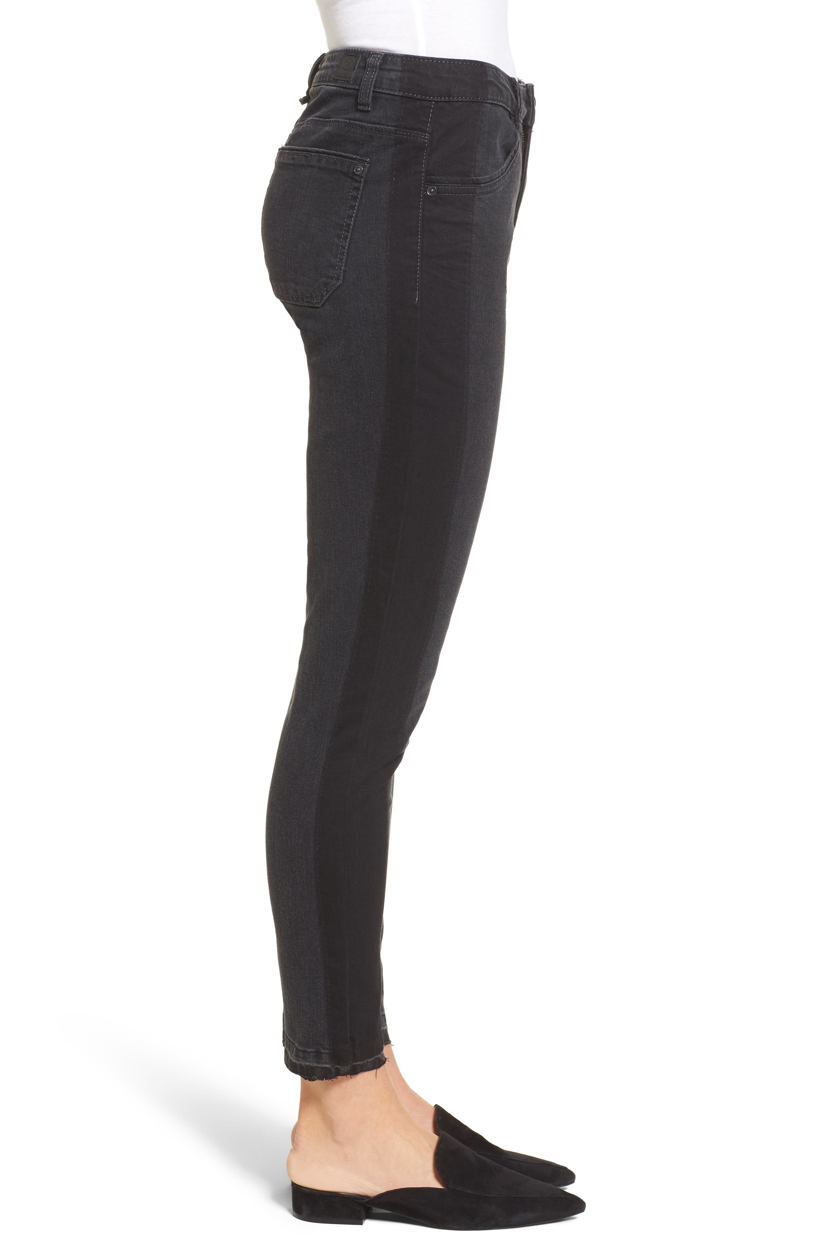 Tuxedo Stripe Skinny Jeans,                             Alternate thumbnail 3, color,                             020