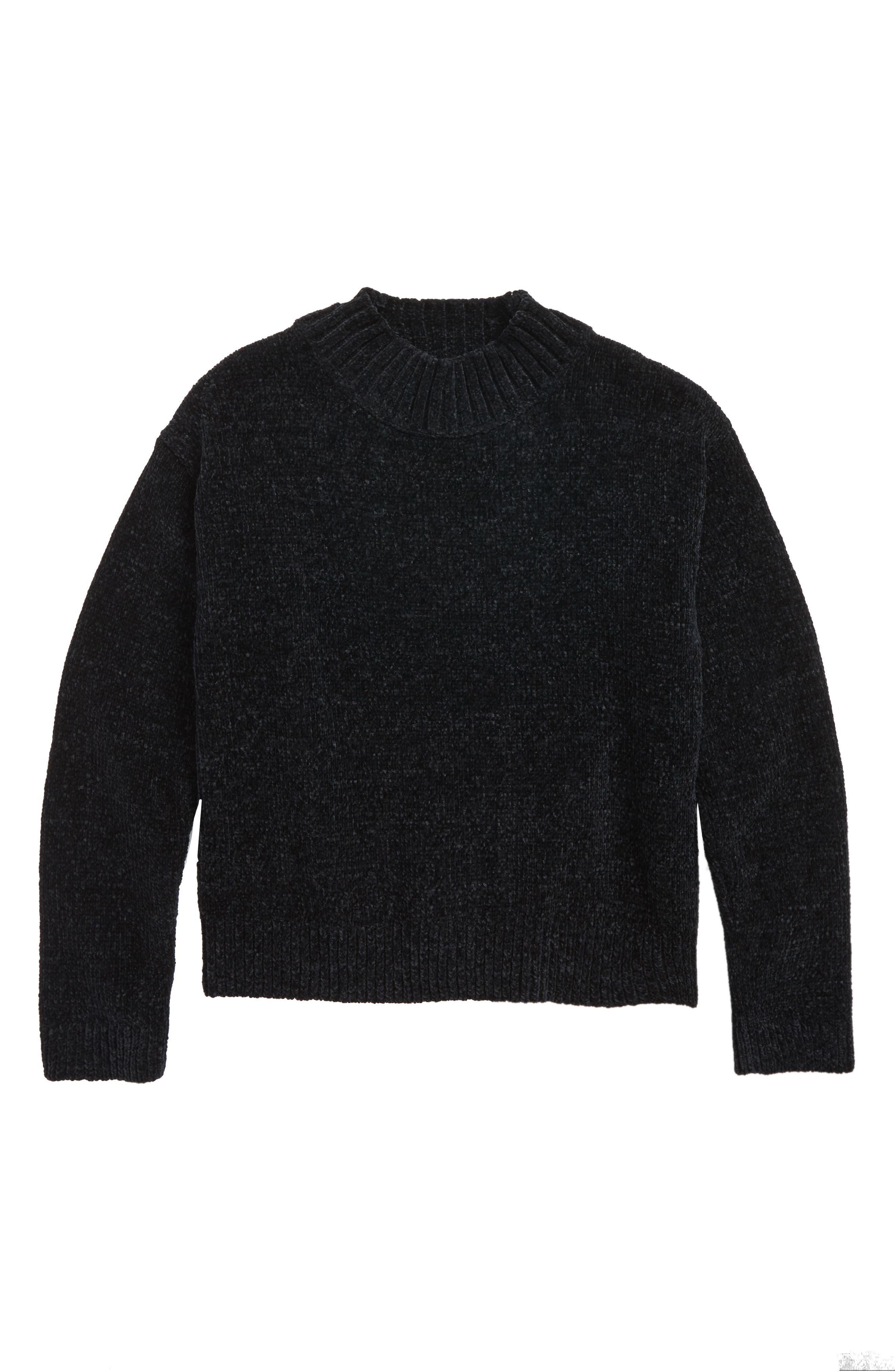 Chenille Mock Neck Sweater,                         Main,                         color,